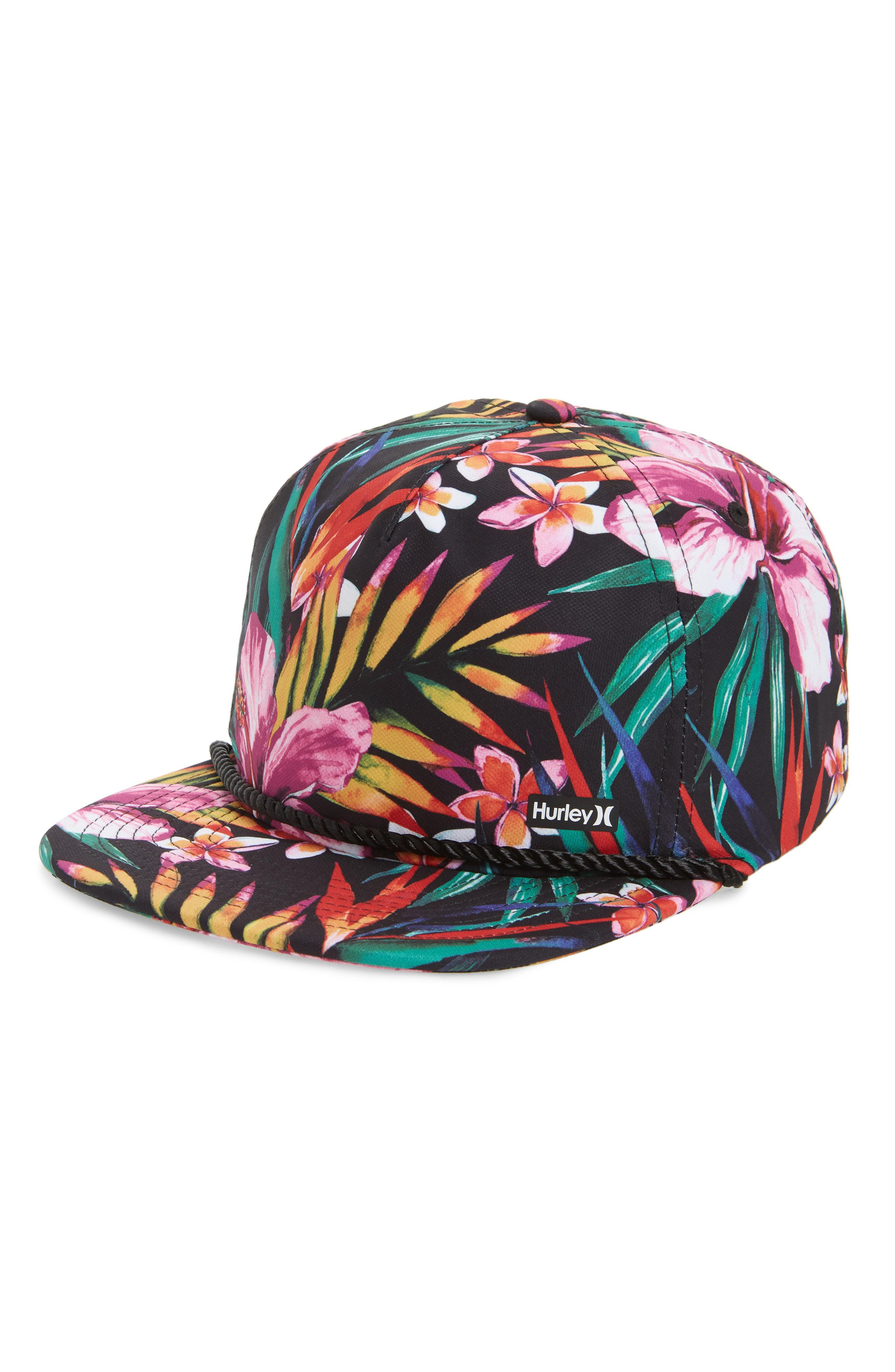 the best attitude 5a634 51bac Hurley Dri-fit Garden Print Hat in Black for Men - Lyst