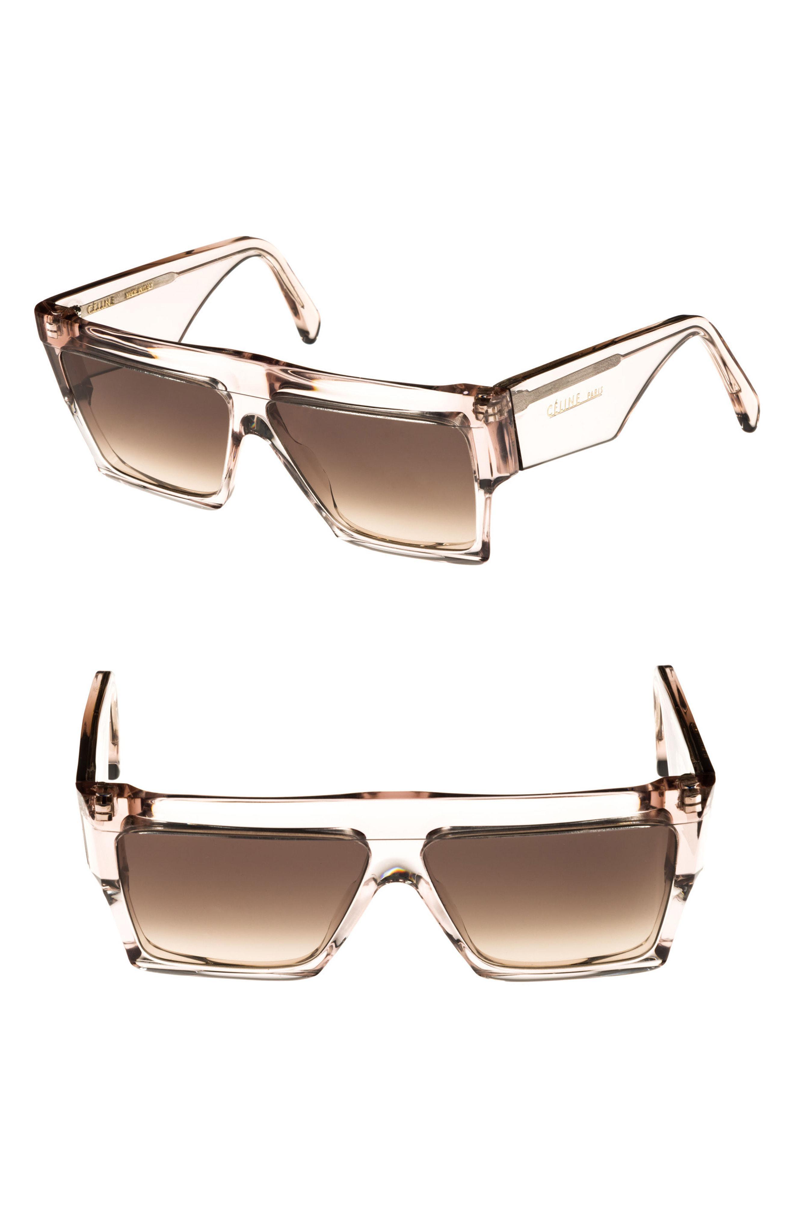 94b5bf45590 Céline - 60mm Flat Top Sunglasses - Transparent Clear  Brown - Lyst. View  fullscreen