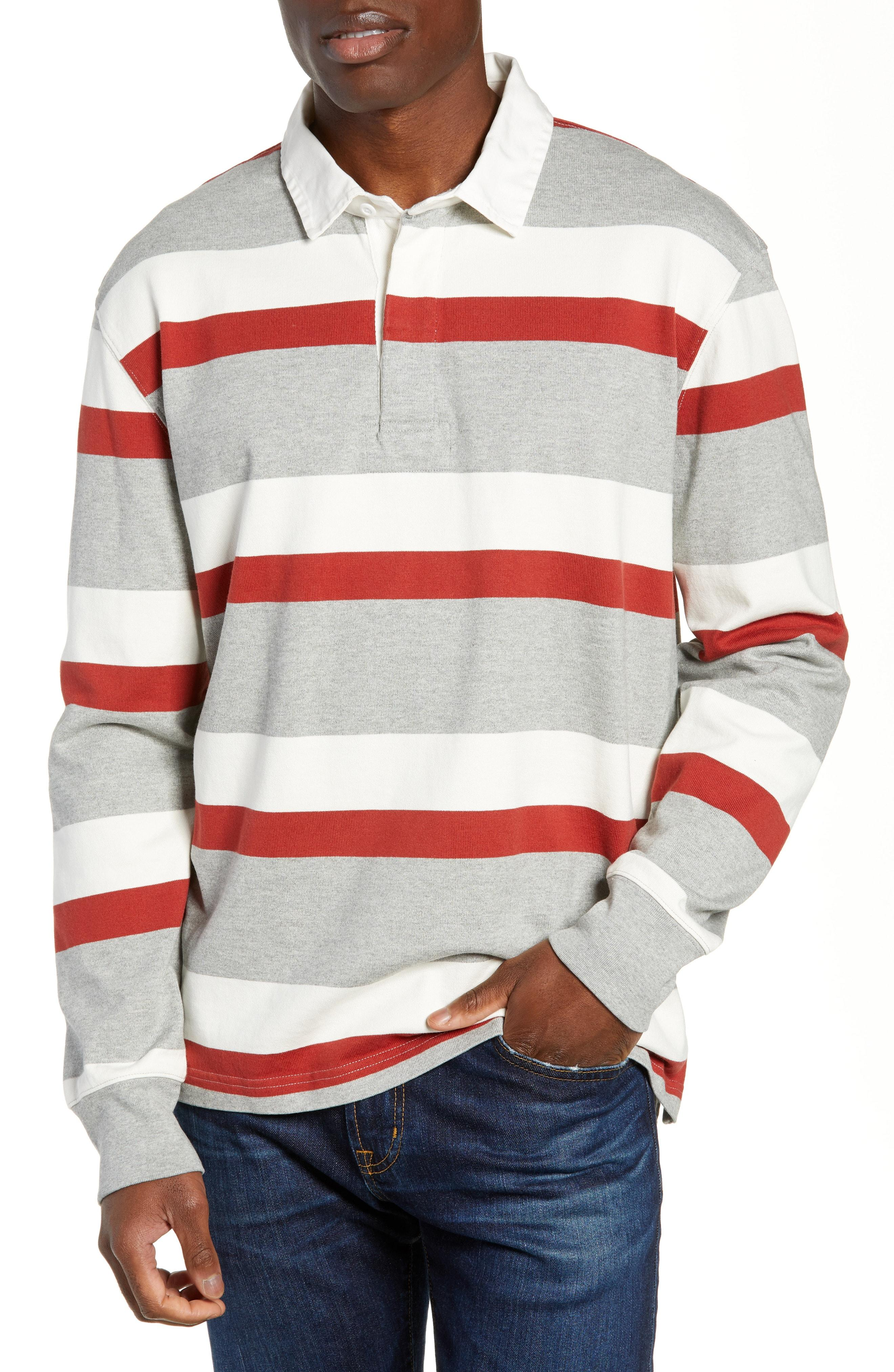 bbbf084d879 Lyst - J.Crew 1984 Stripe Rugby Polo for Men