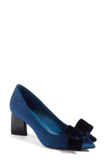b8bf0fca2dd Lyst - Tory Burch Viola Bow Pump in Blue