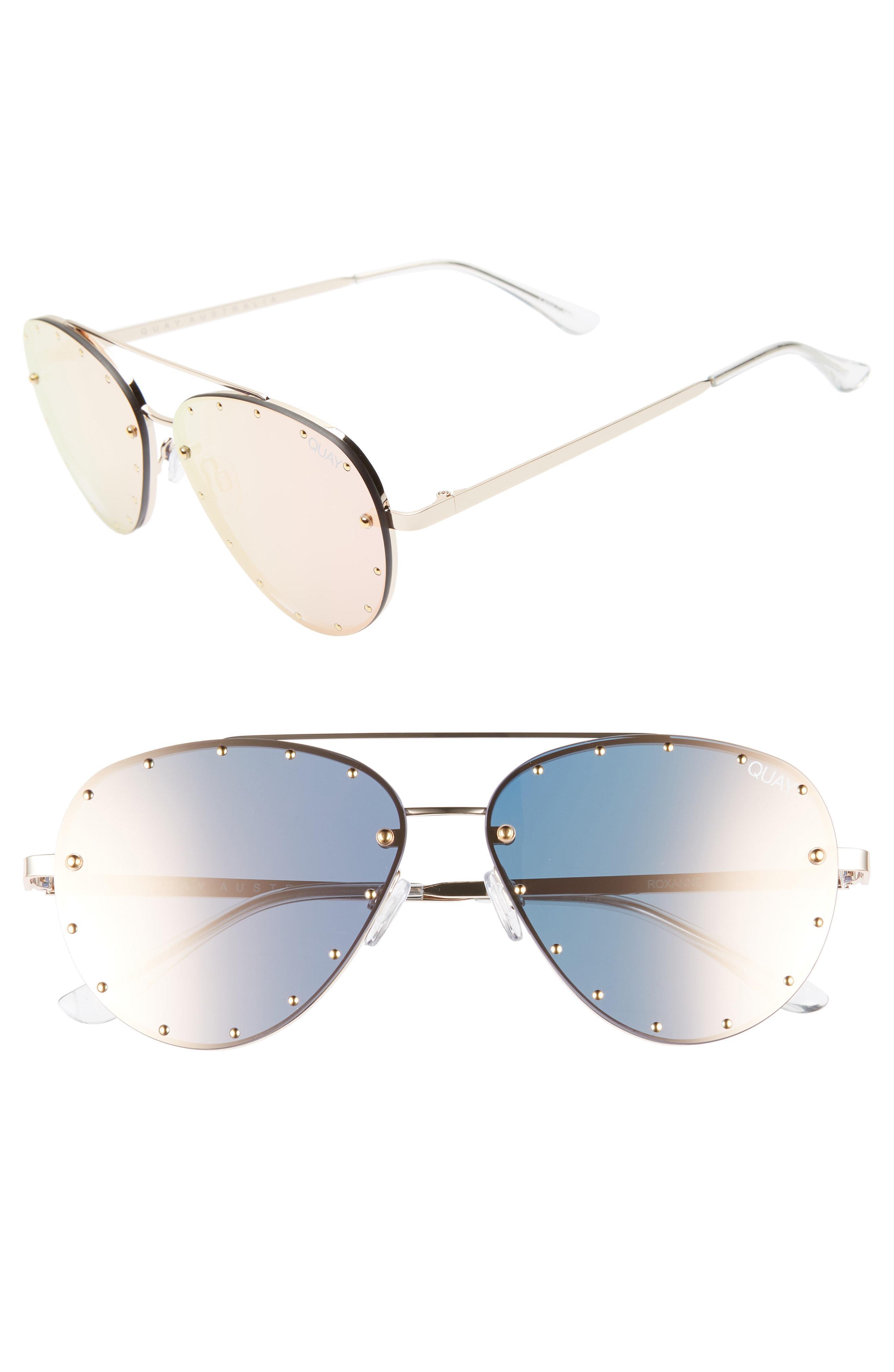 114189b29acac Quay X Jaclyn Hill Roxanne 62mm Stud Aviator Sunglasses - Lyst
