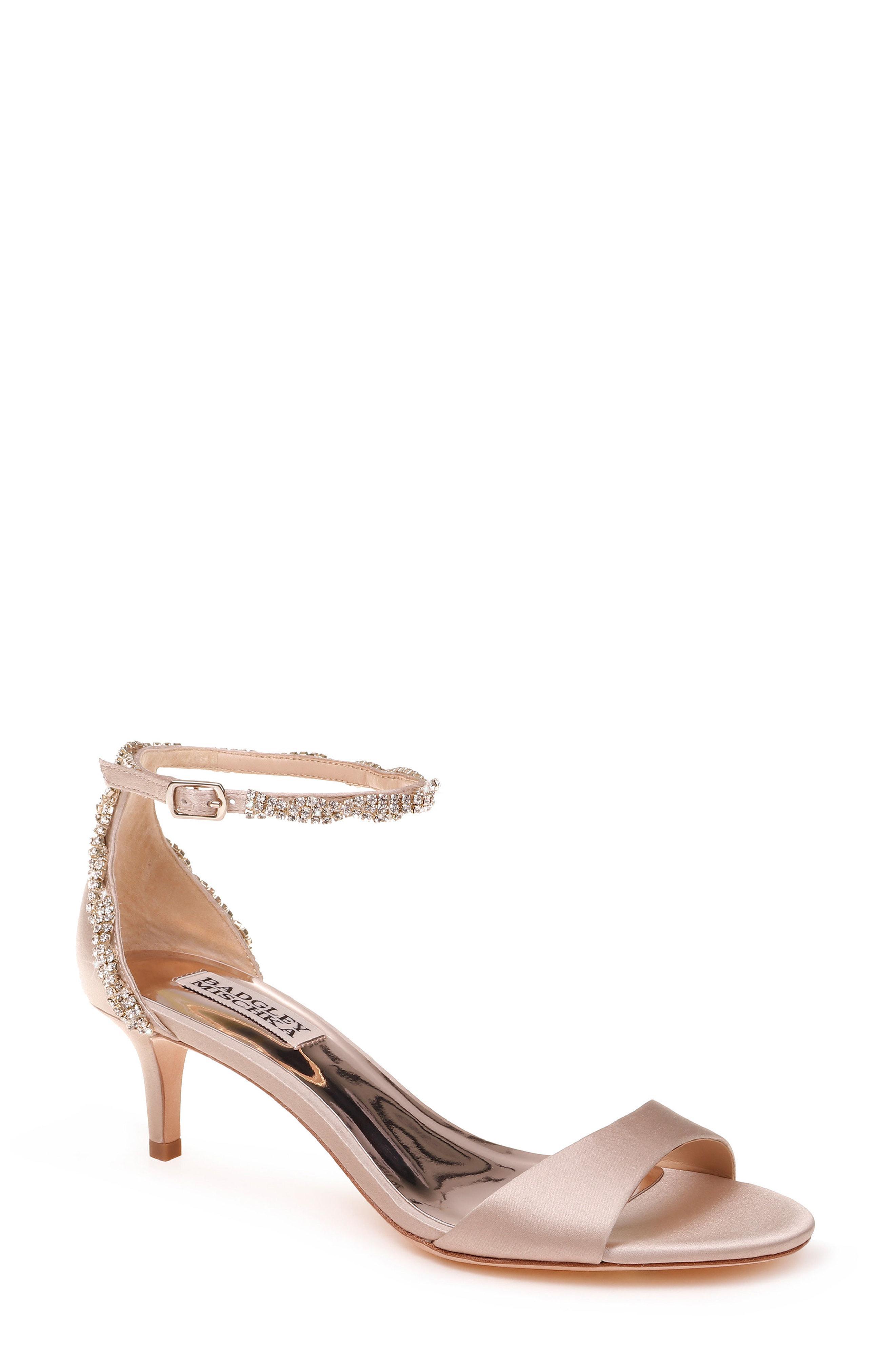 429a0bcafc8 Lyst - Badgley Mischka Yareli Crystal Embellished Sandal in Pink