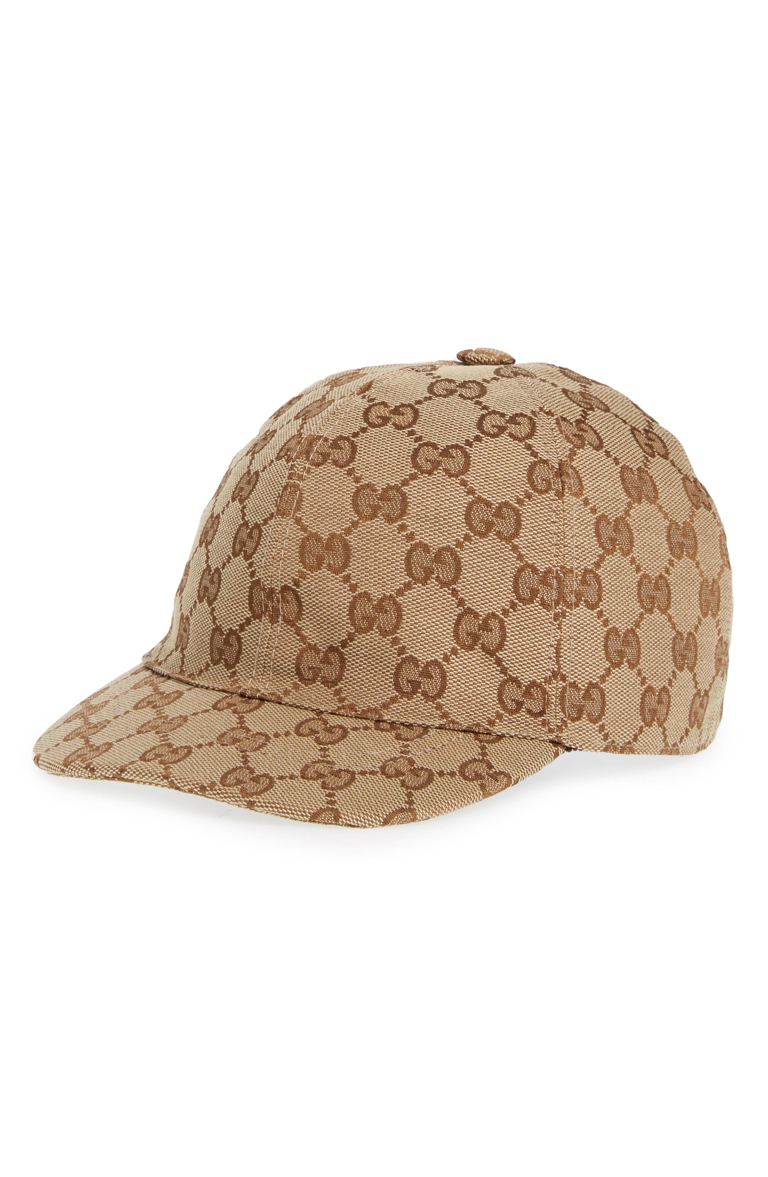 6f3542add3022 Gucci Logo Baseball Cap - in Brown for Men - Lyst