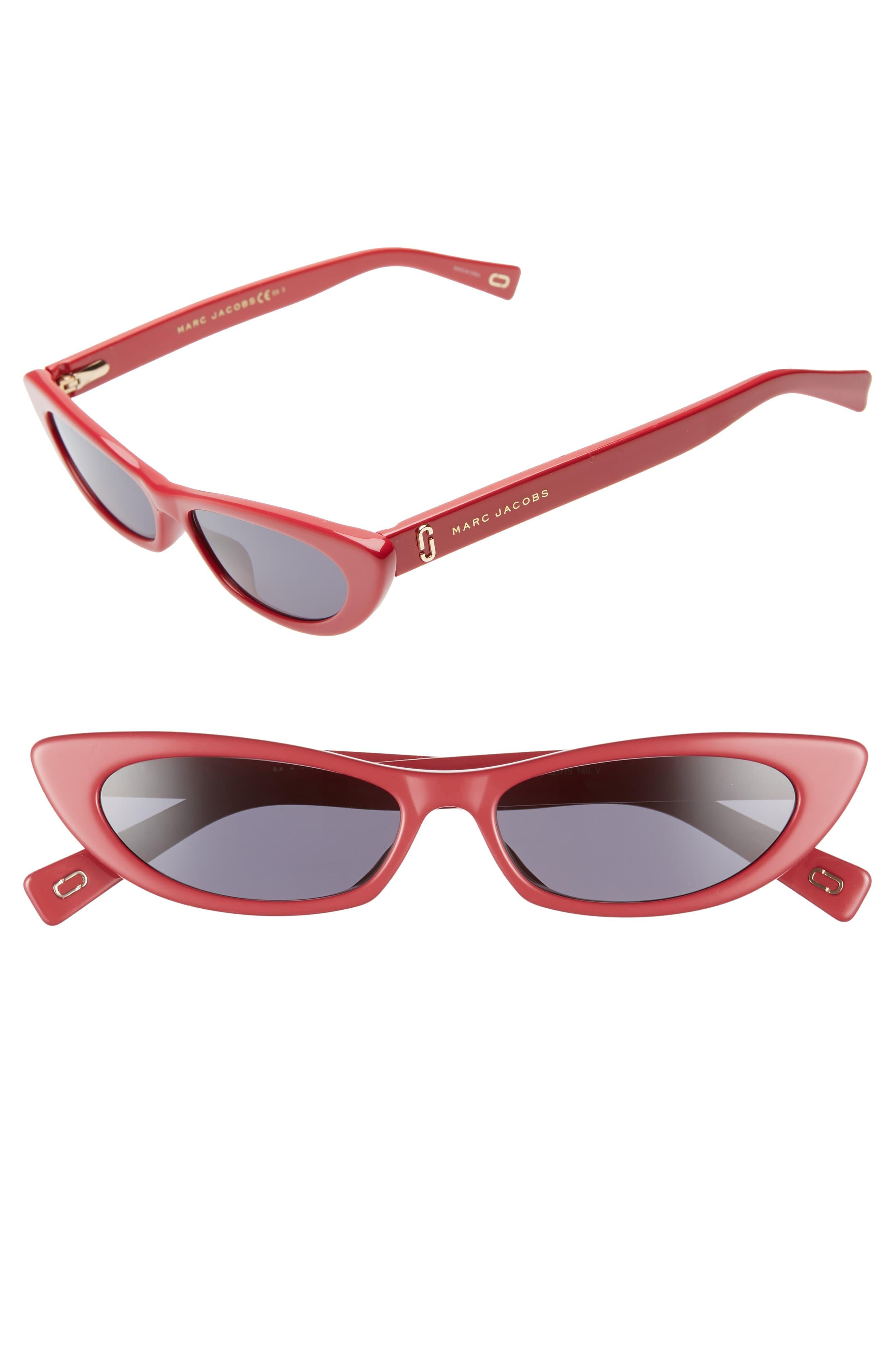 2c11b76f638e Marc Jacobs 52mm Cat Eye Sunglasses in Red - Lyst