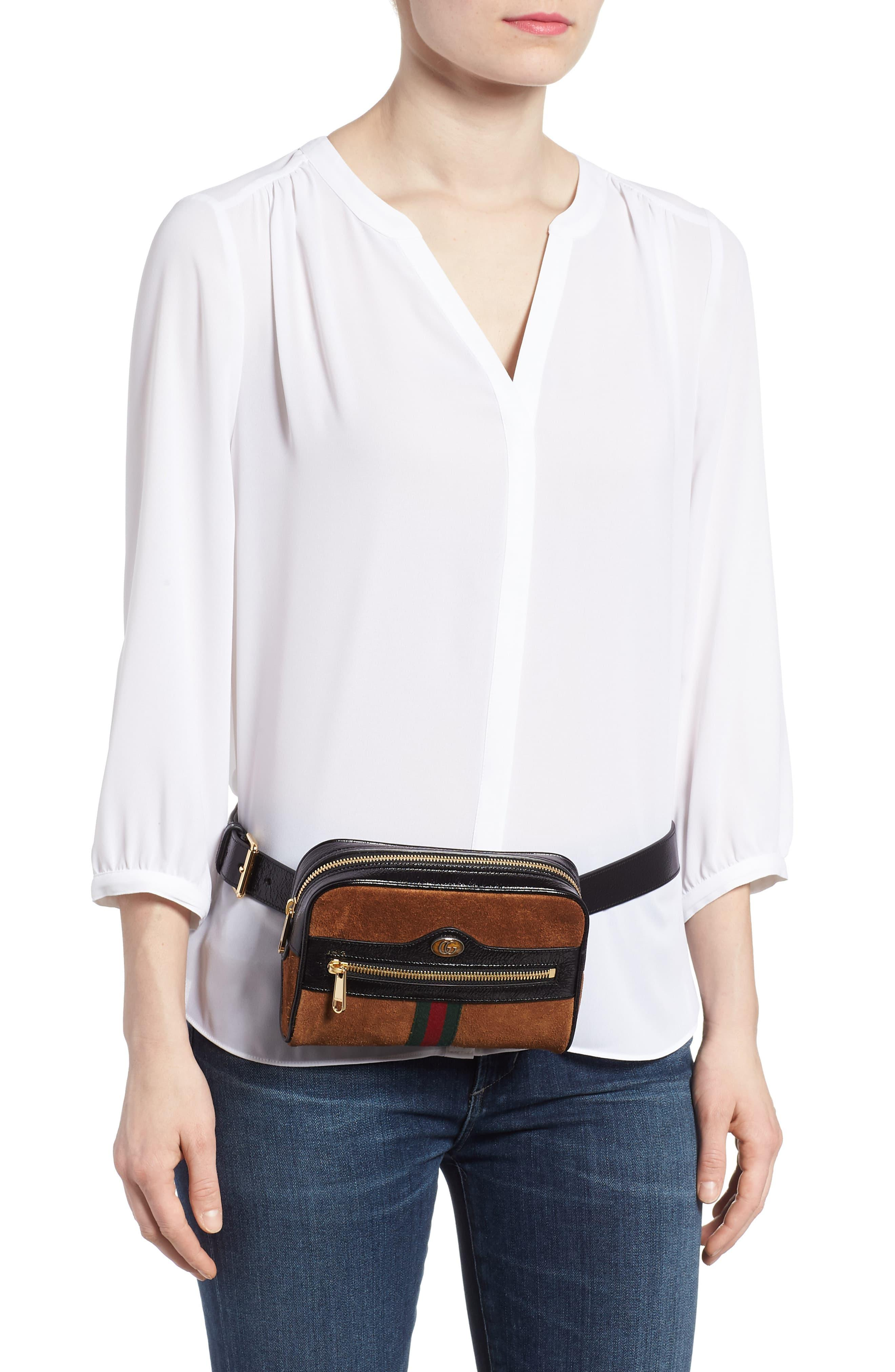 74f8033e67d7e4 ... Ophidia Small Suede Belt Bag - Lyst. View fullscreen