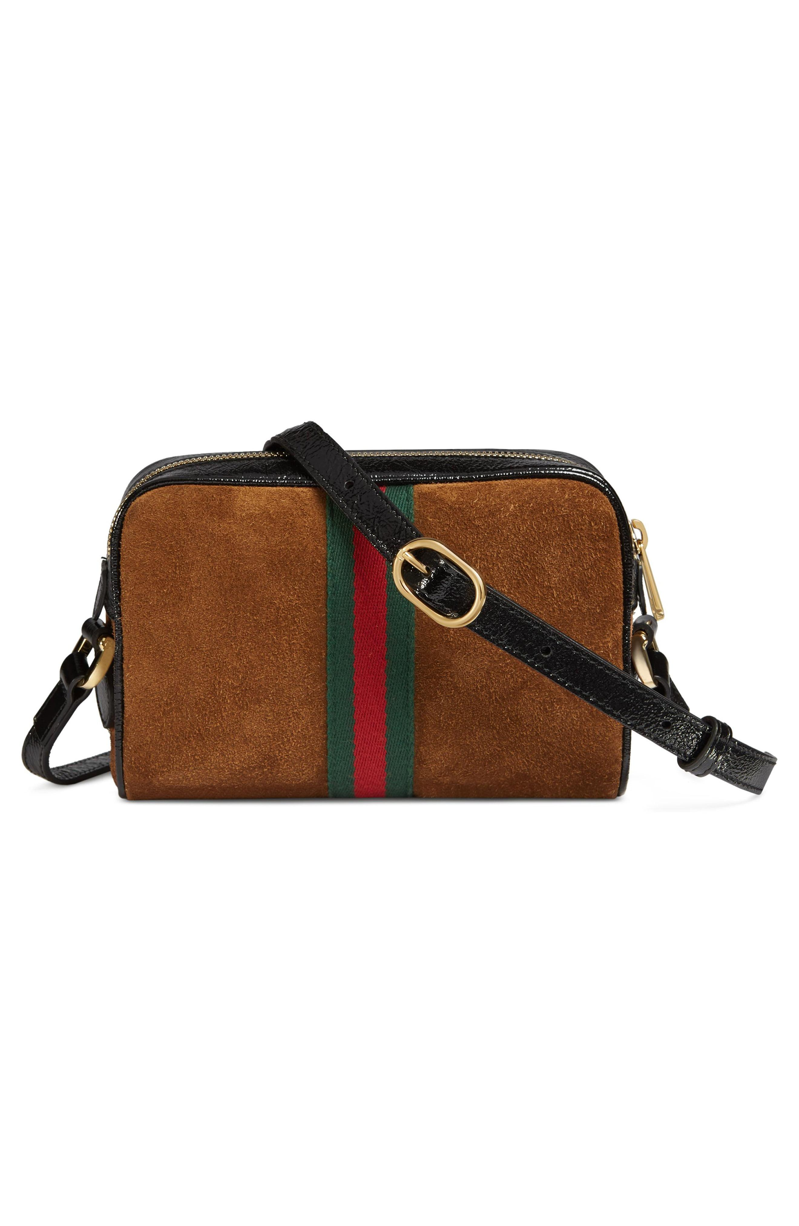 956c5eccef8 Gucci - Multicolor Ophidia Small Suede   Leather Crossbody Bag - - Lyst.  View fullscreen