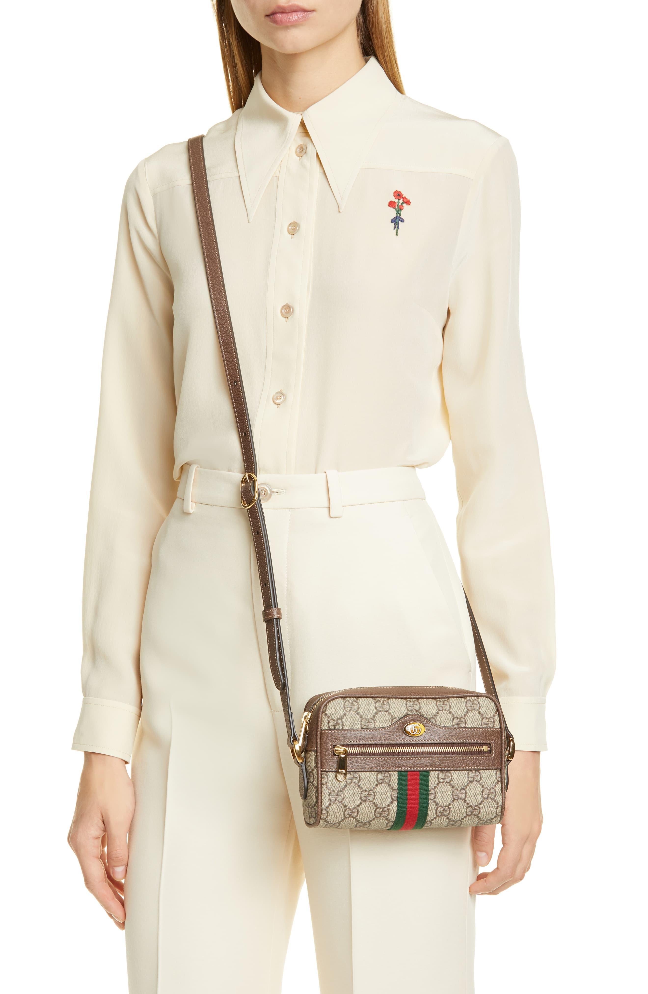 80a439ff45d1 Gucci - Natural Ophidia GG Supreme Mini Bag - Lyst. View fullscreen