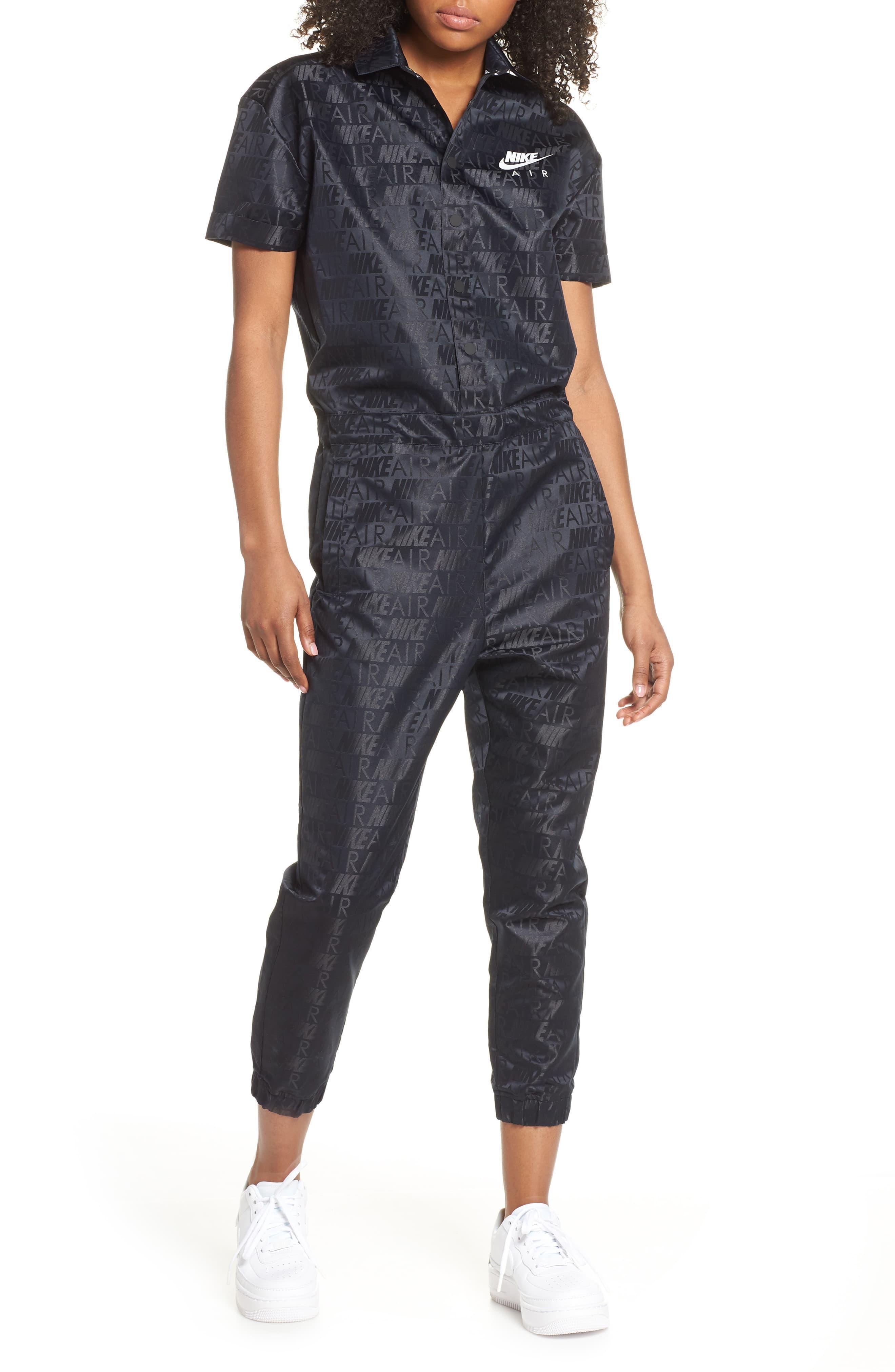 9457fd5d5 Nike Sportswear Air Jumpsuit in Black - Lyst