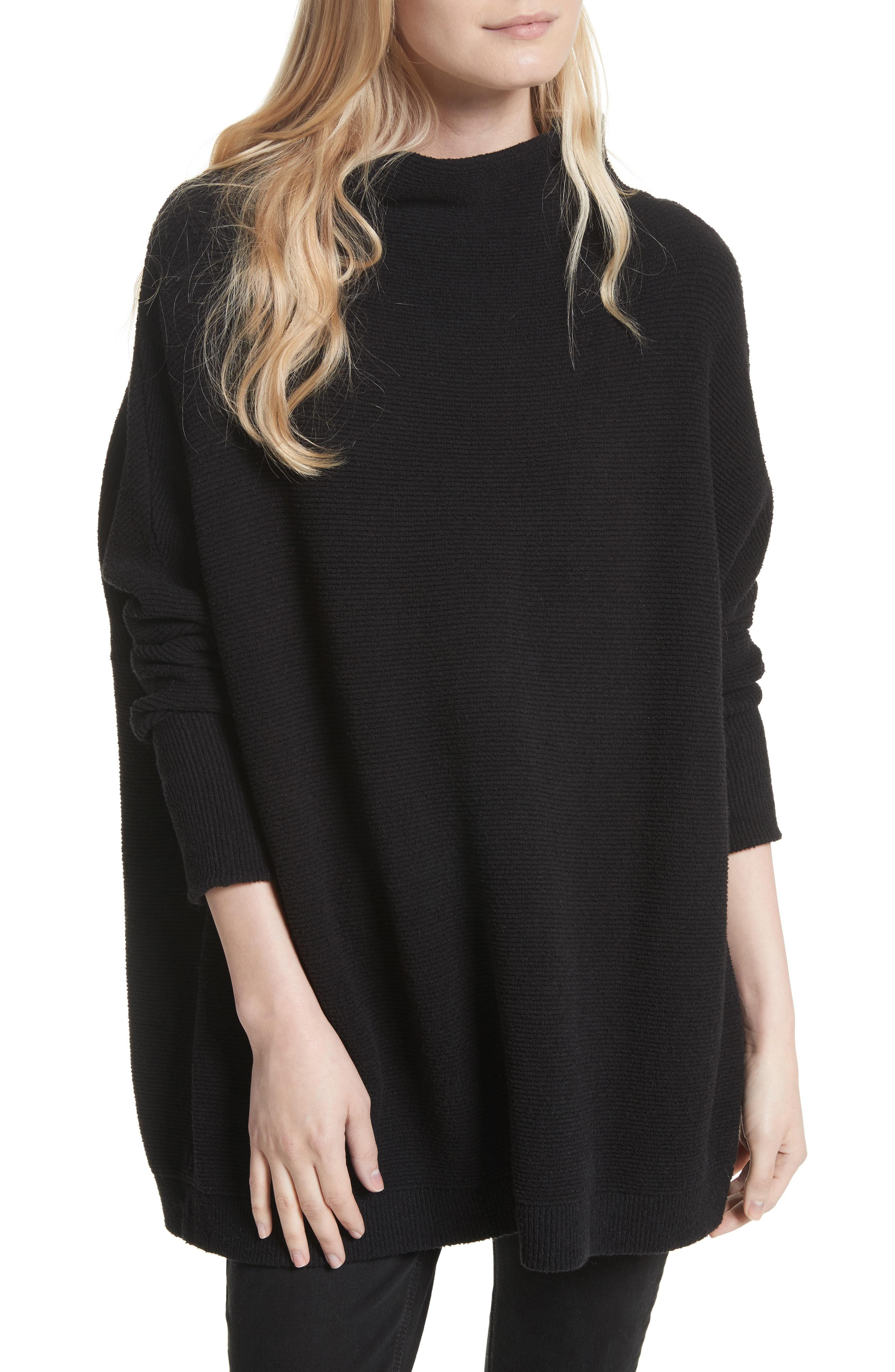 Free People Ottoman Slouchy Tunic In Black Lyst