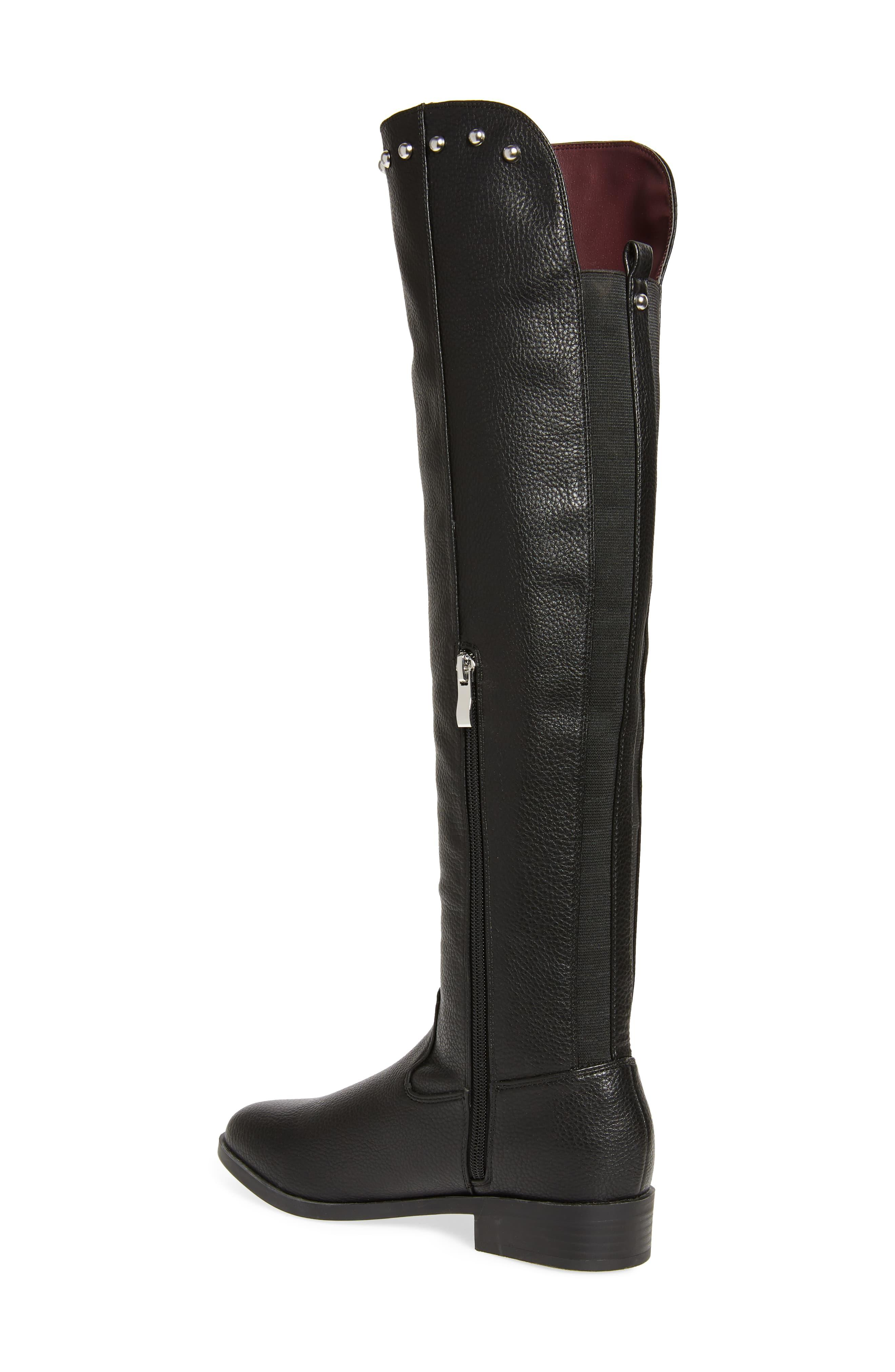 bca260134b Very Volatile Akita Studded Over The Knee Boot in Black - Lyst