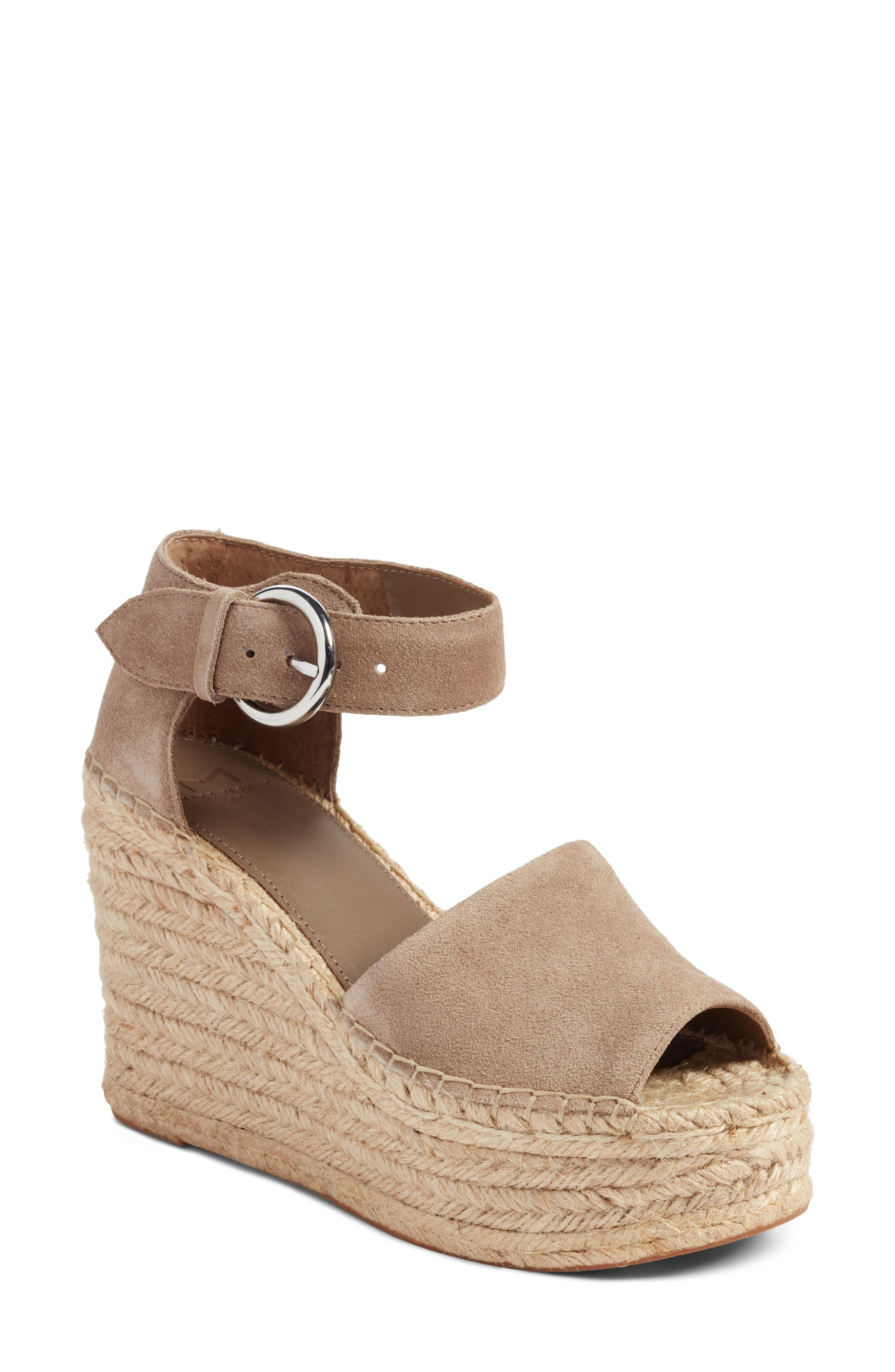 44a7b5c8fd7 Marc Fisher Alida Espadrille Wedge (light Pale Rust Kid Suede ...