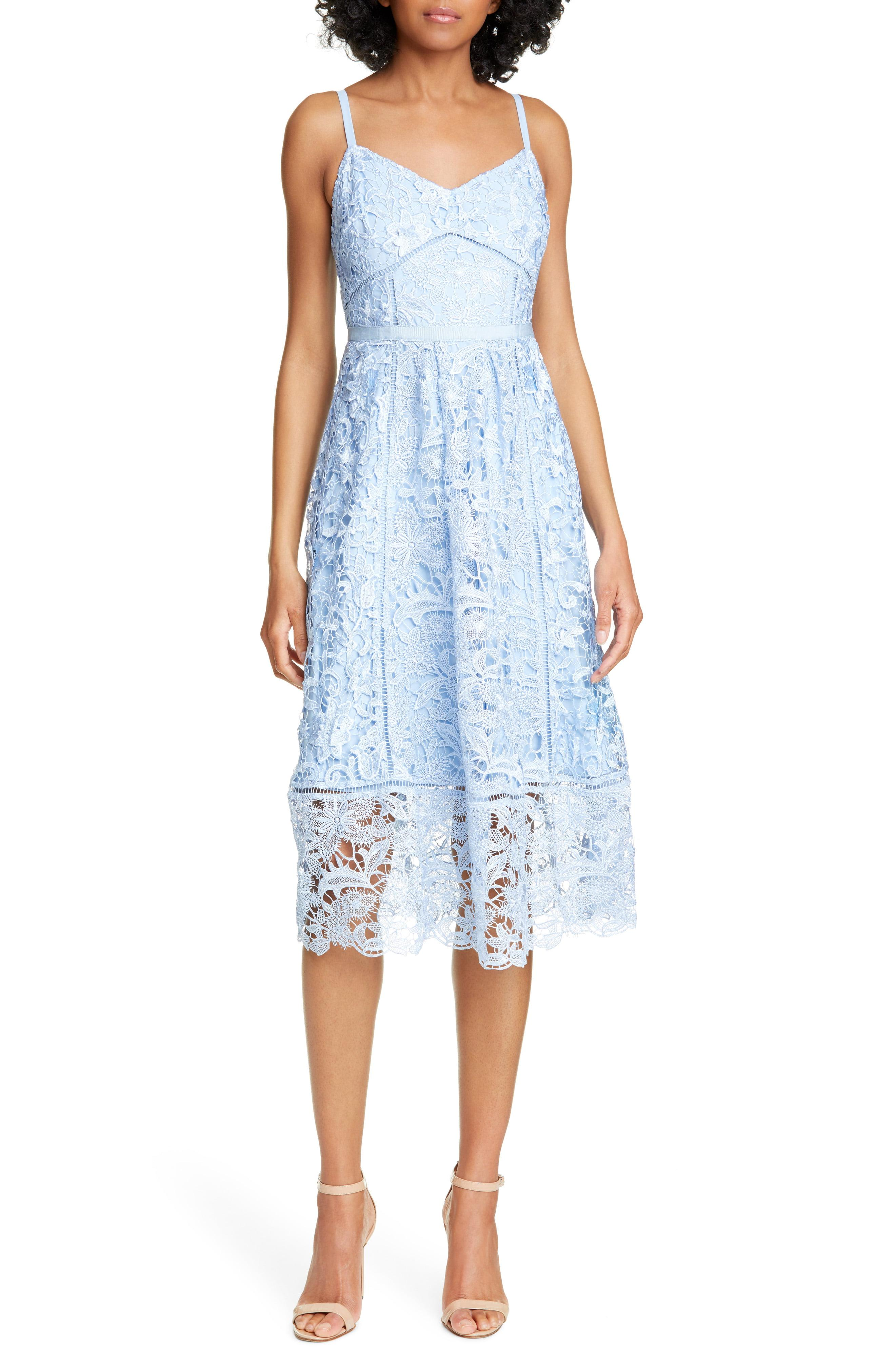 b18674513 Lyst - Ted Baker Valens Lace Midi Dress in White