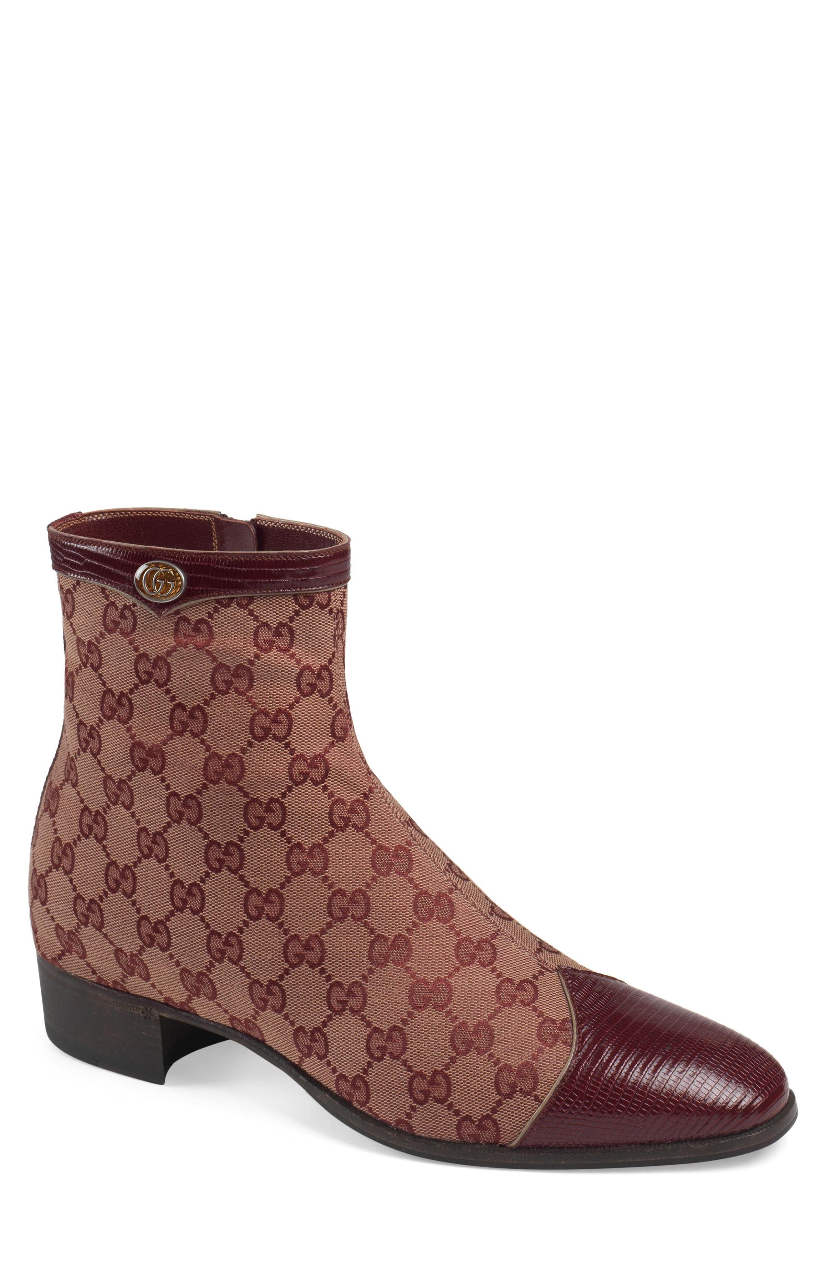08fc17e5806 Lyst - Gucci Plata Zip Boot in Brown for Men