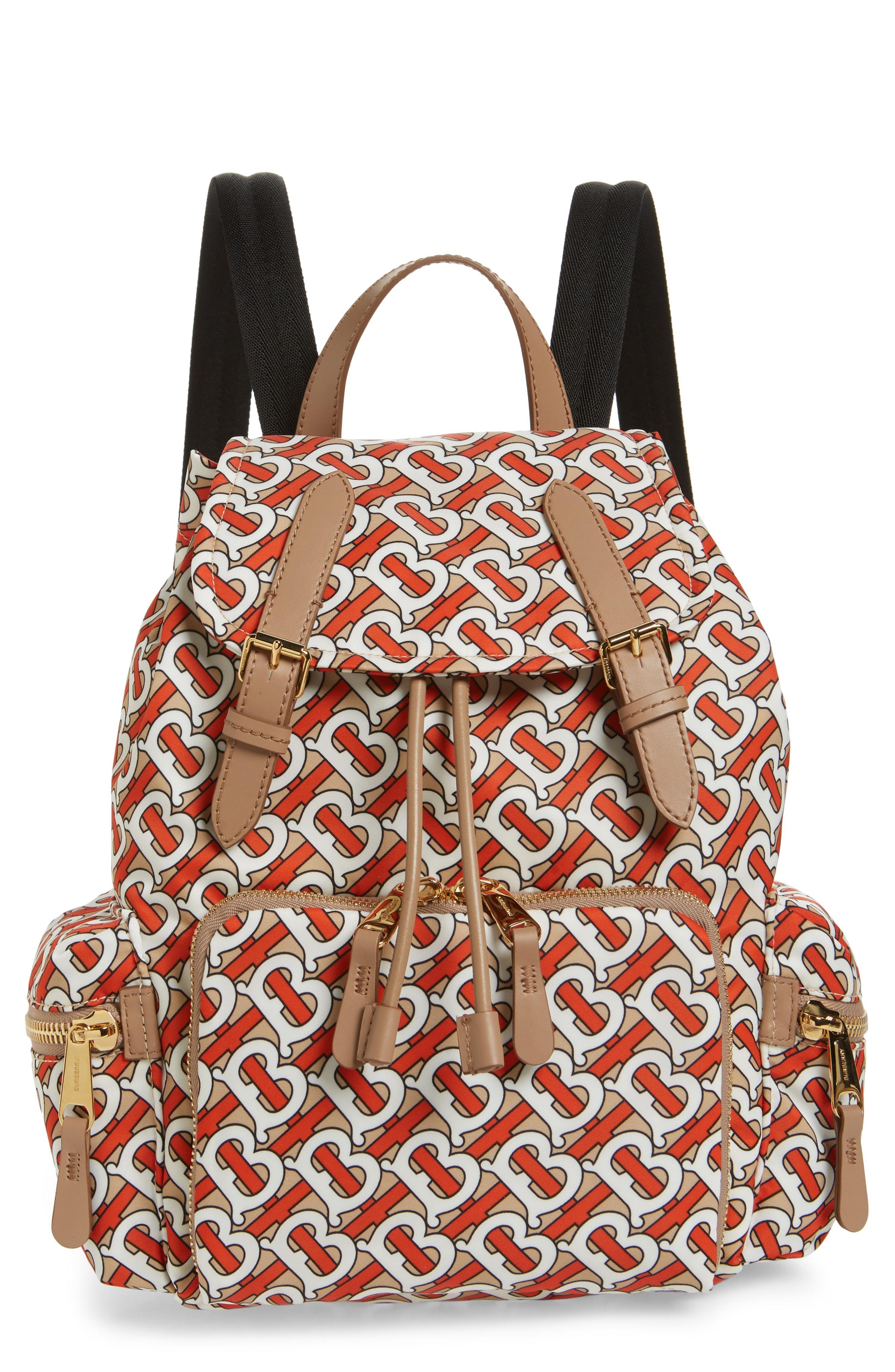 Burberry. Women s Medium Rucksack Logo Print Nylon Backpack c6c00e1fed95a