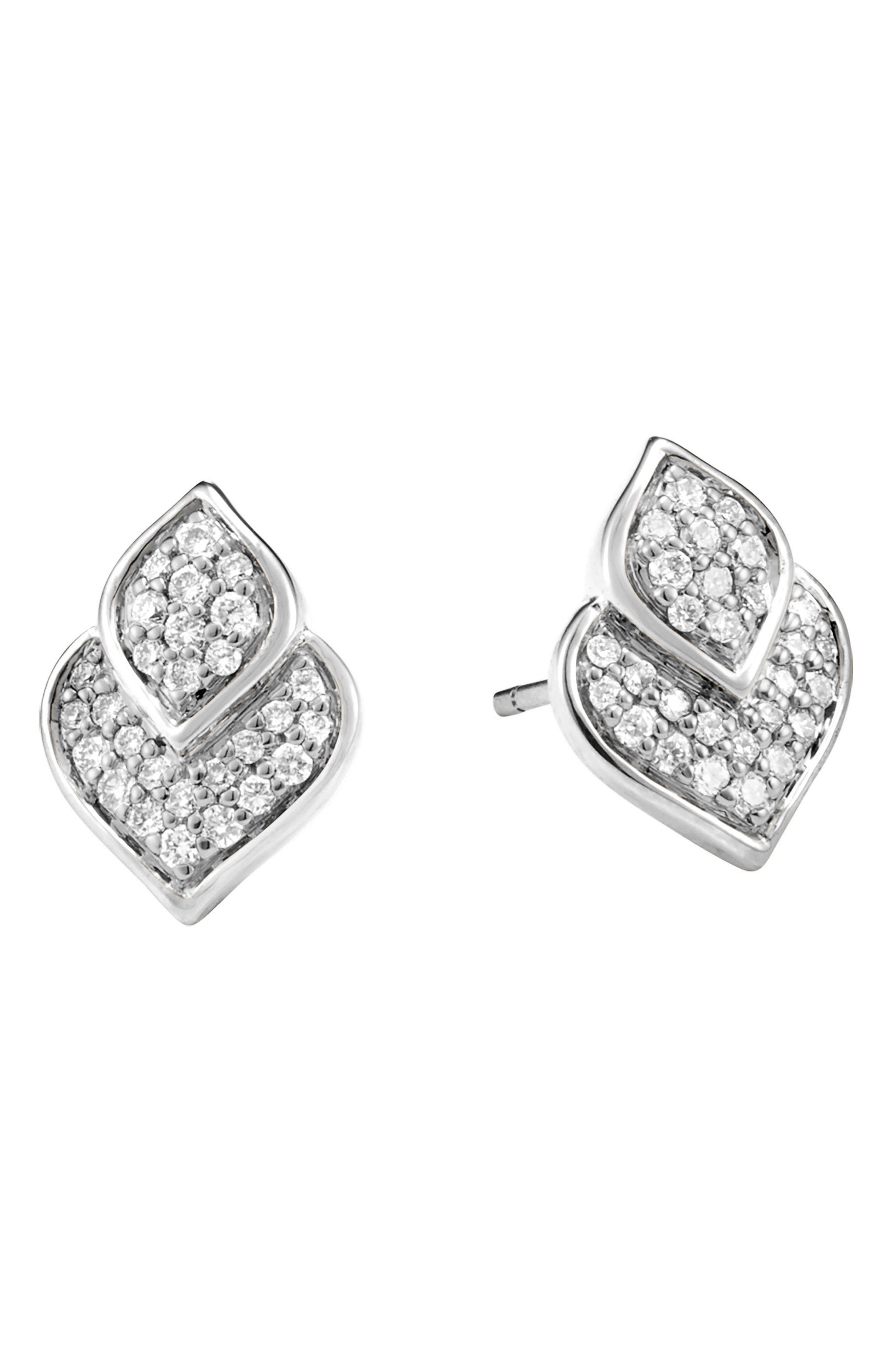 8c0899e0361 Lyst - John Hardy Legends Naga Pave Diamond Stud Earrings in Metallic