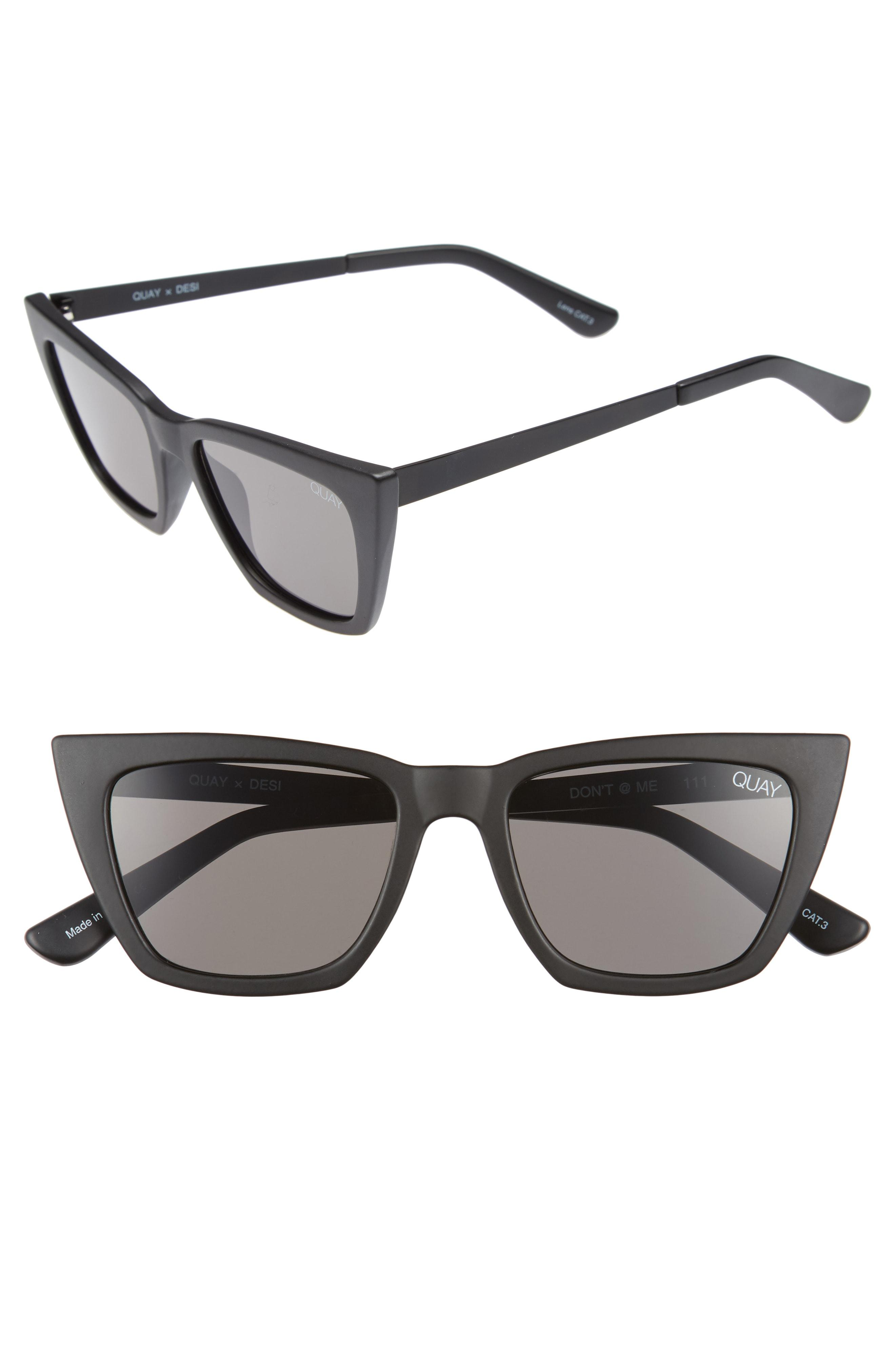 998fb14c865 Quay X Desi Perkins Don t   Me 48mm Cat Eye Sunglasses in Black - Lyst