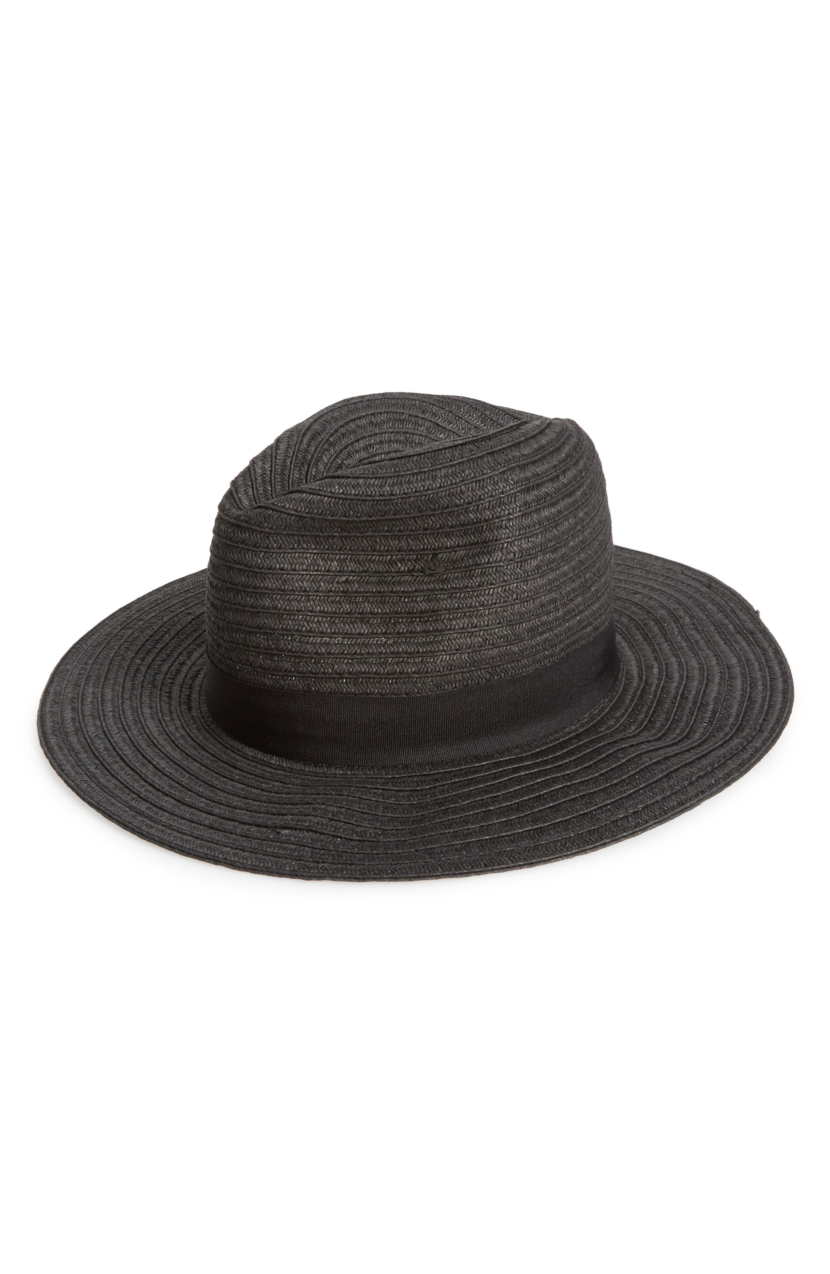 Lyst - Sole Society Panama Hat in Black cd122c4c0ec2