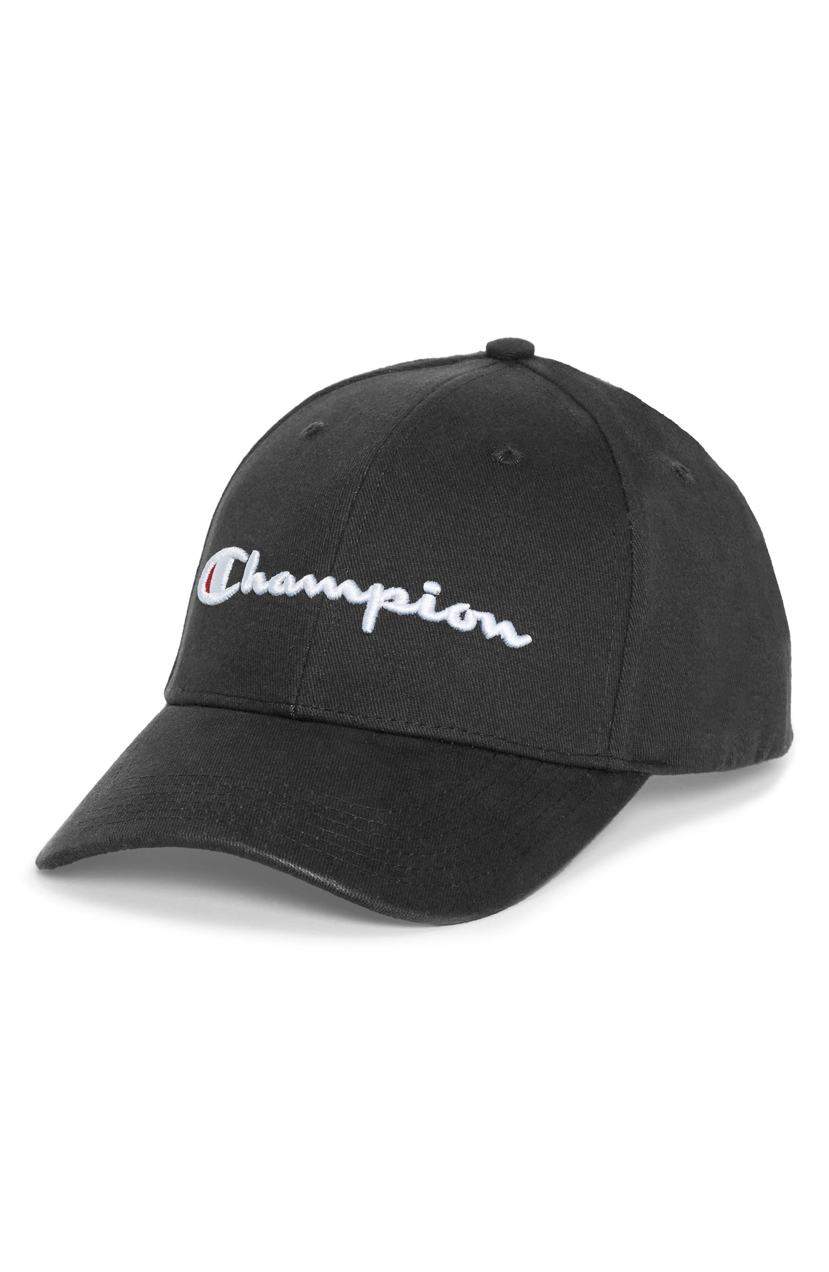 3d07e1e0f57f4 Champion - Black Classic Script Baseball Cap for Men - Lyst. View fullscreen