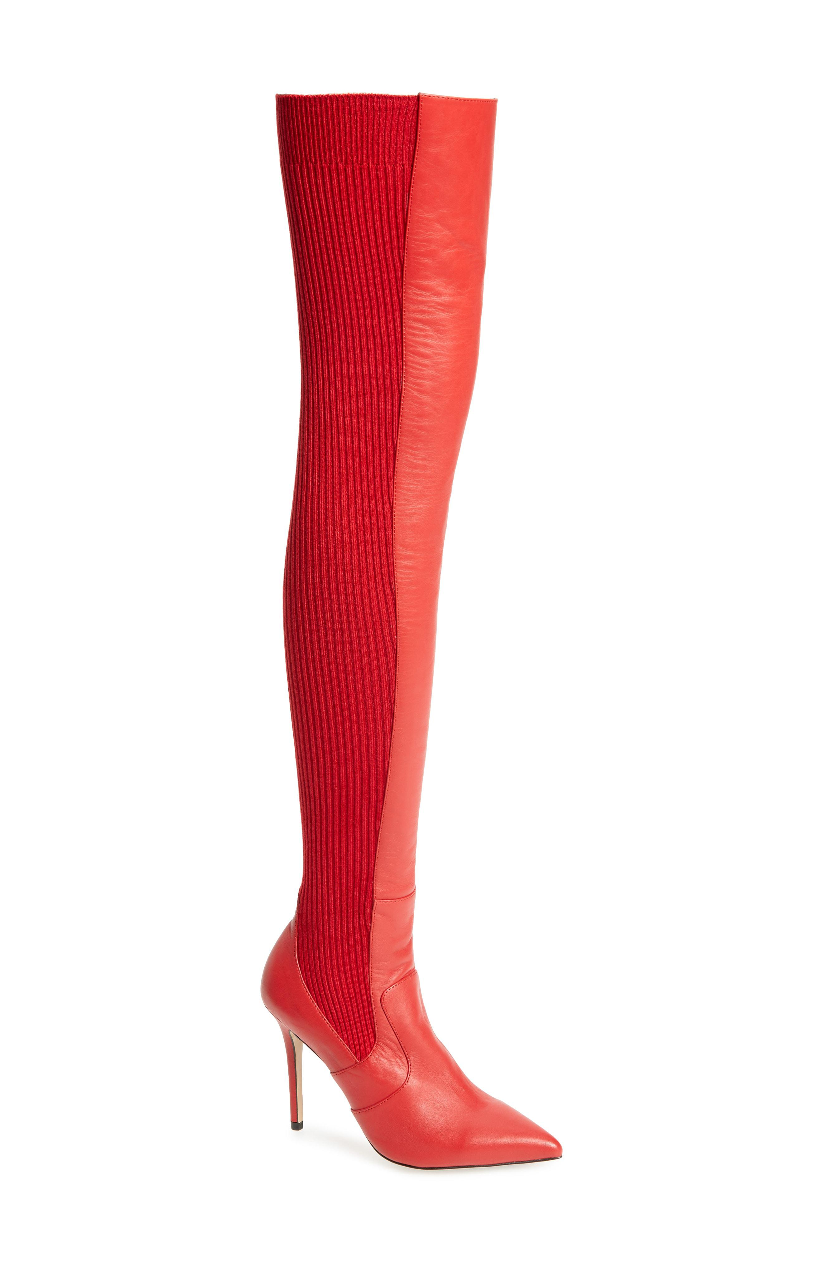 5abeea9230b Lyst - Tony Bianco Dahlia Over The Knee Boot in Red