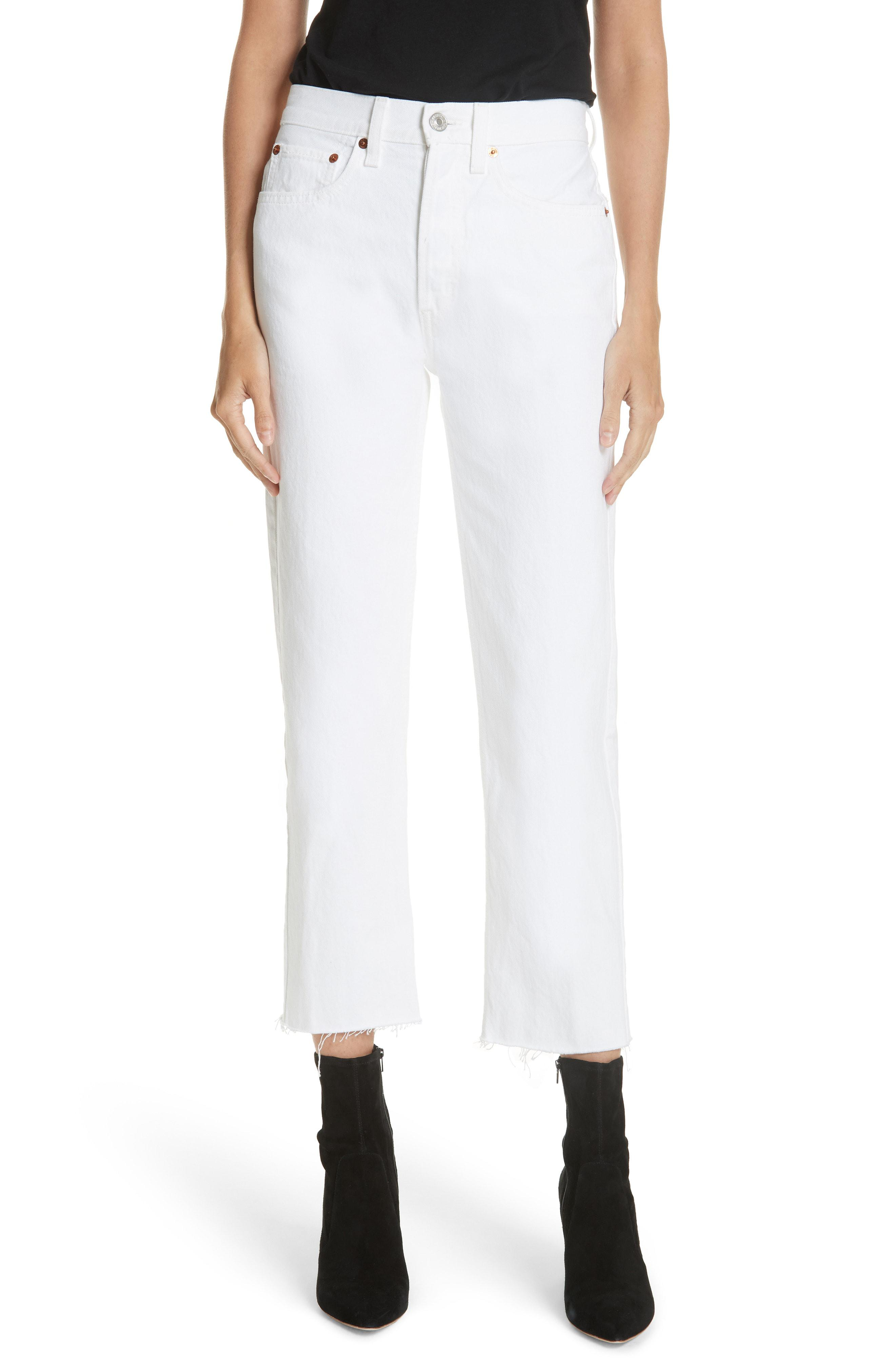 2ae638e5d0c1 Lyst Re Done Originals High Waist Stove Pipe Jeans In White