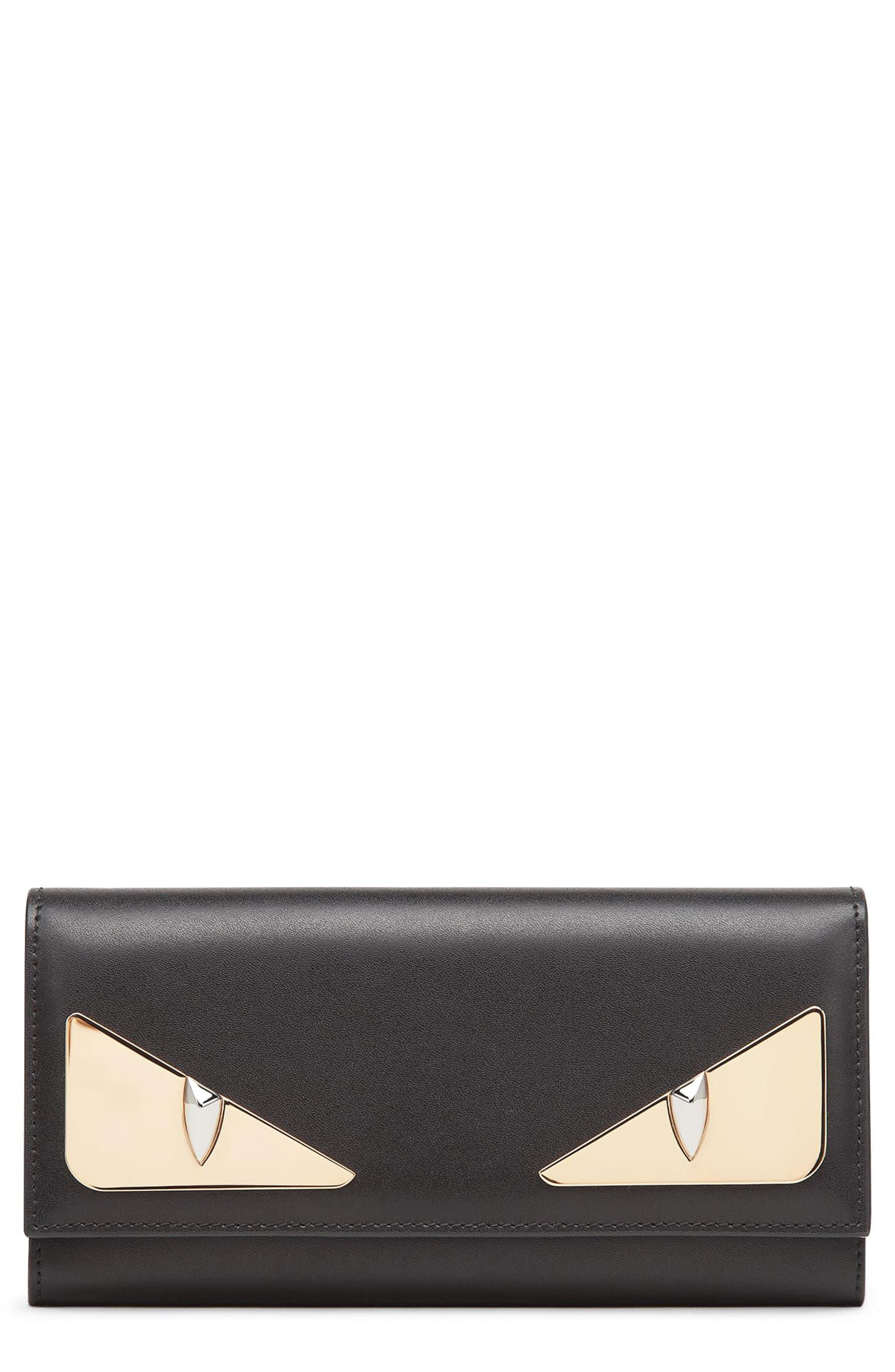 cd4085d43 Lyst - Fendi Continental Leather Wallet in Black - Save 25%