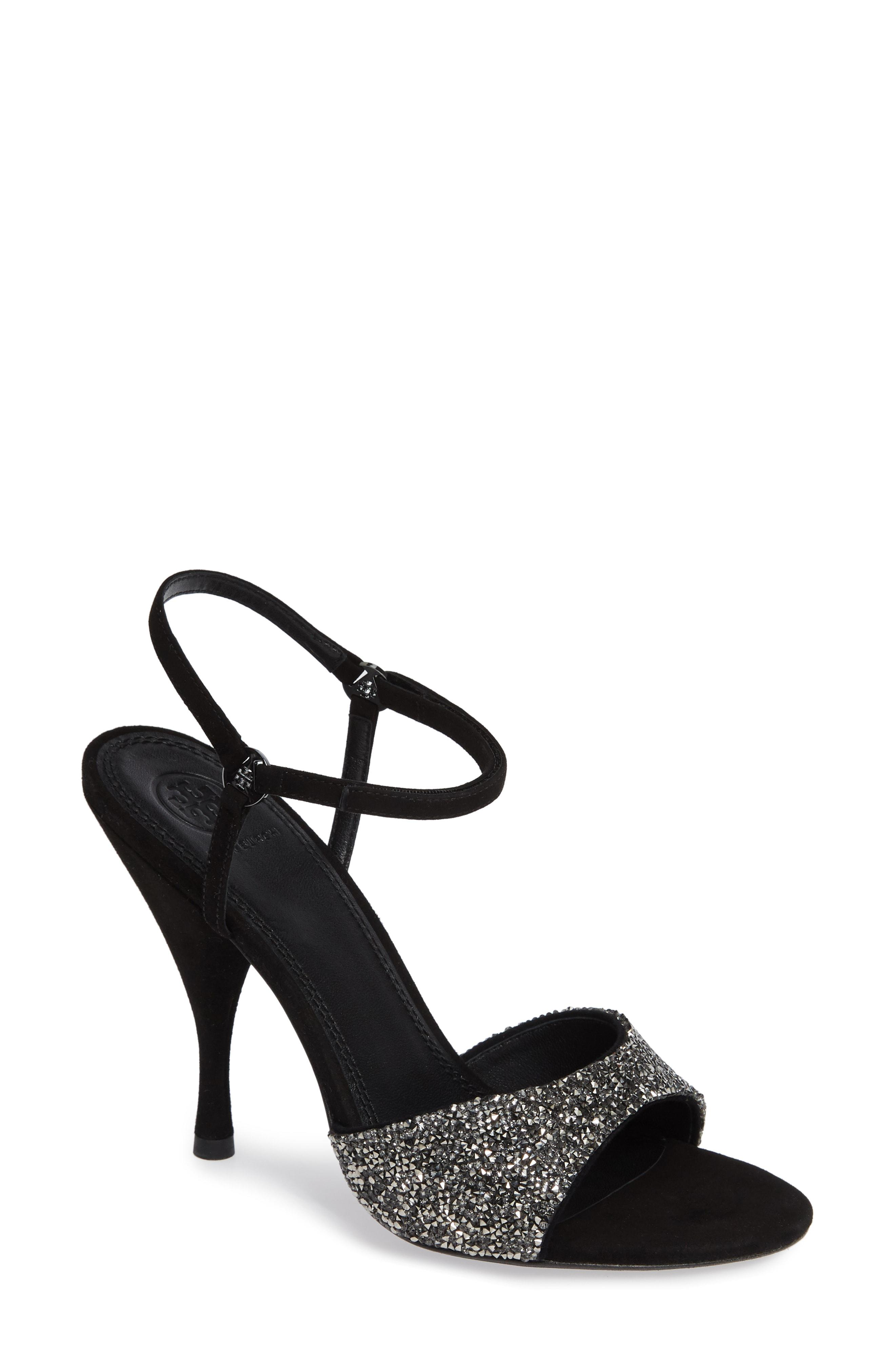 fd890570a Lyst - Tory Burch Elodie 105mm Ankle-strap Sandals in Black