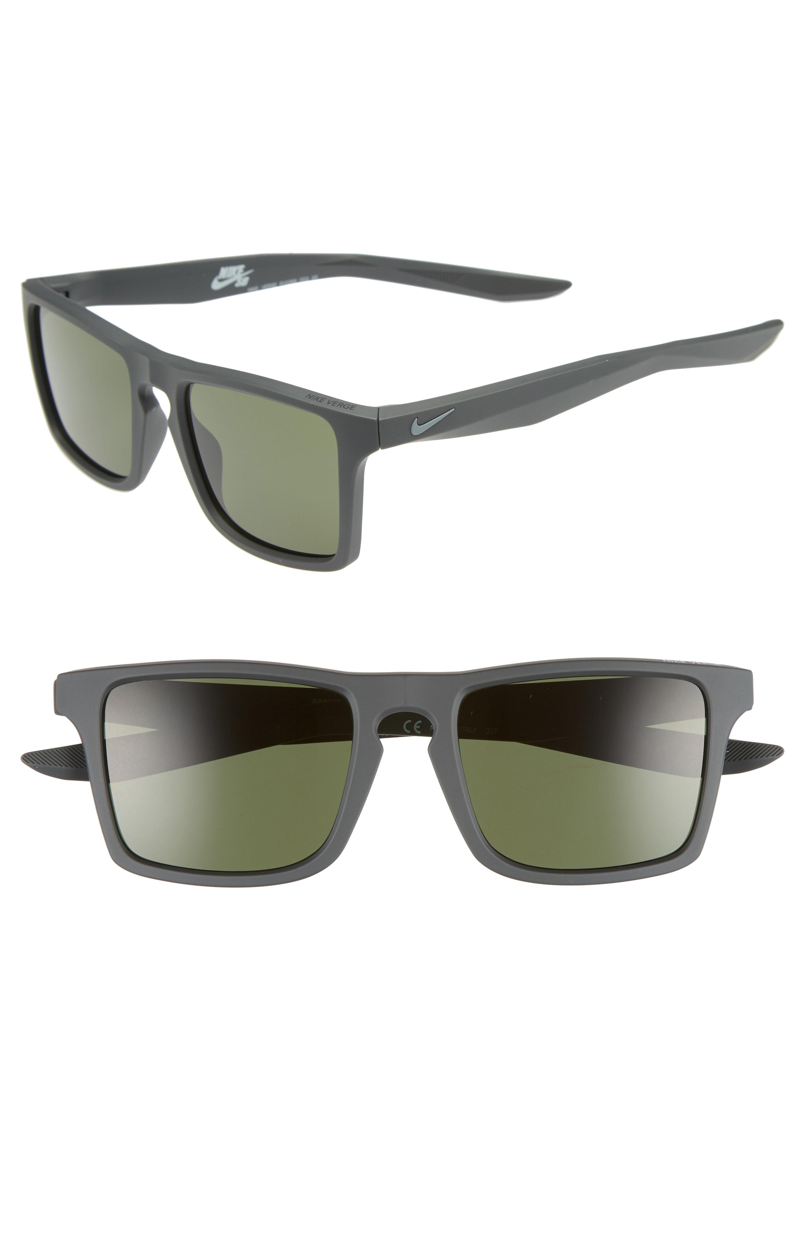 50ff77bb23 Lyst - Nike Verge 52mm Sunglasses - Anthracite  Cool Grey  Green in ...