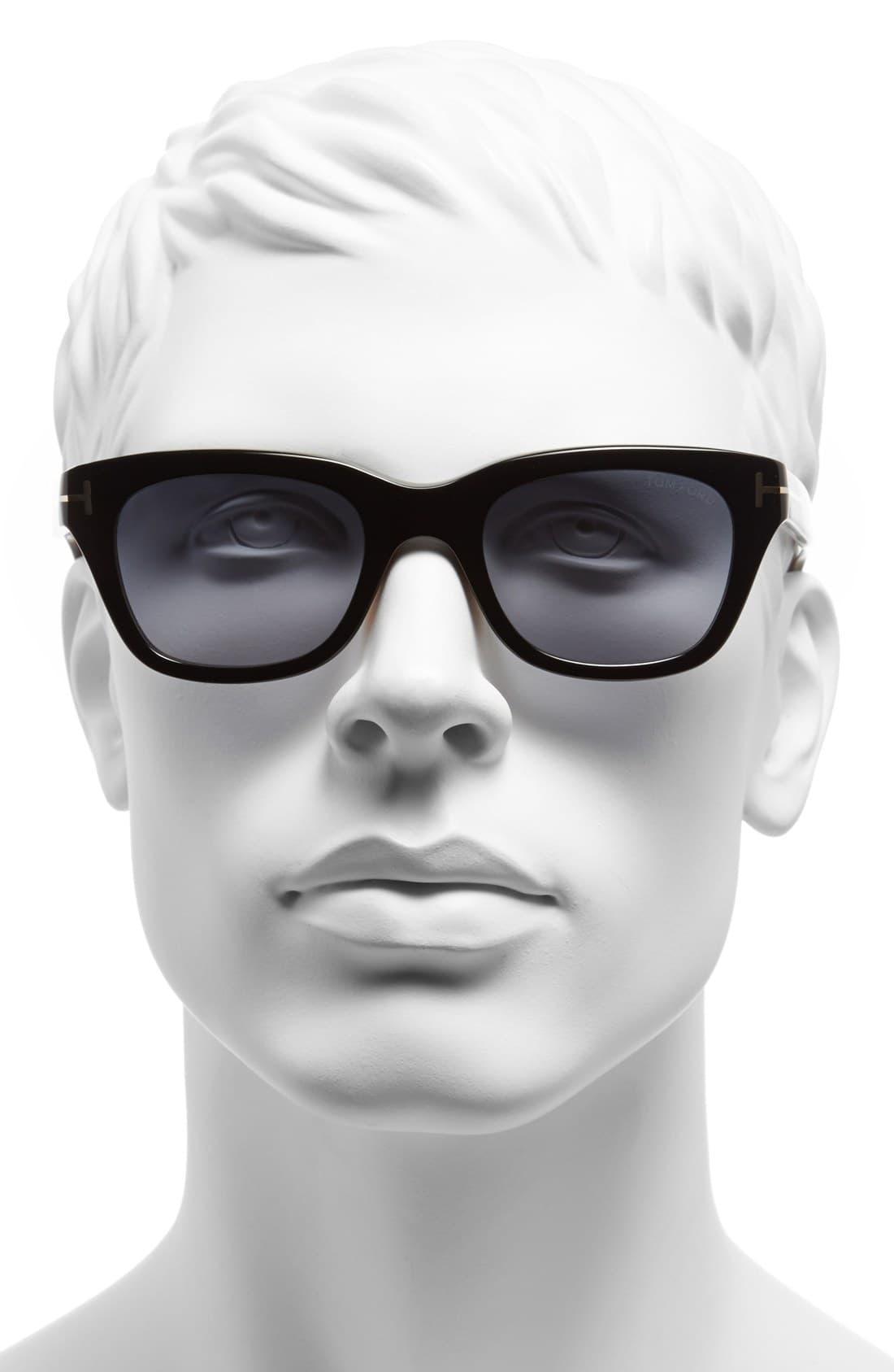 37e0479b81c1f Tom Ford -  snowdon  50mm Sunglasses - Shiny Black for Men - Lyst. View  fullscreen