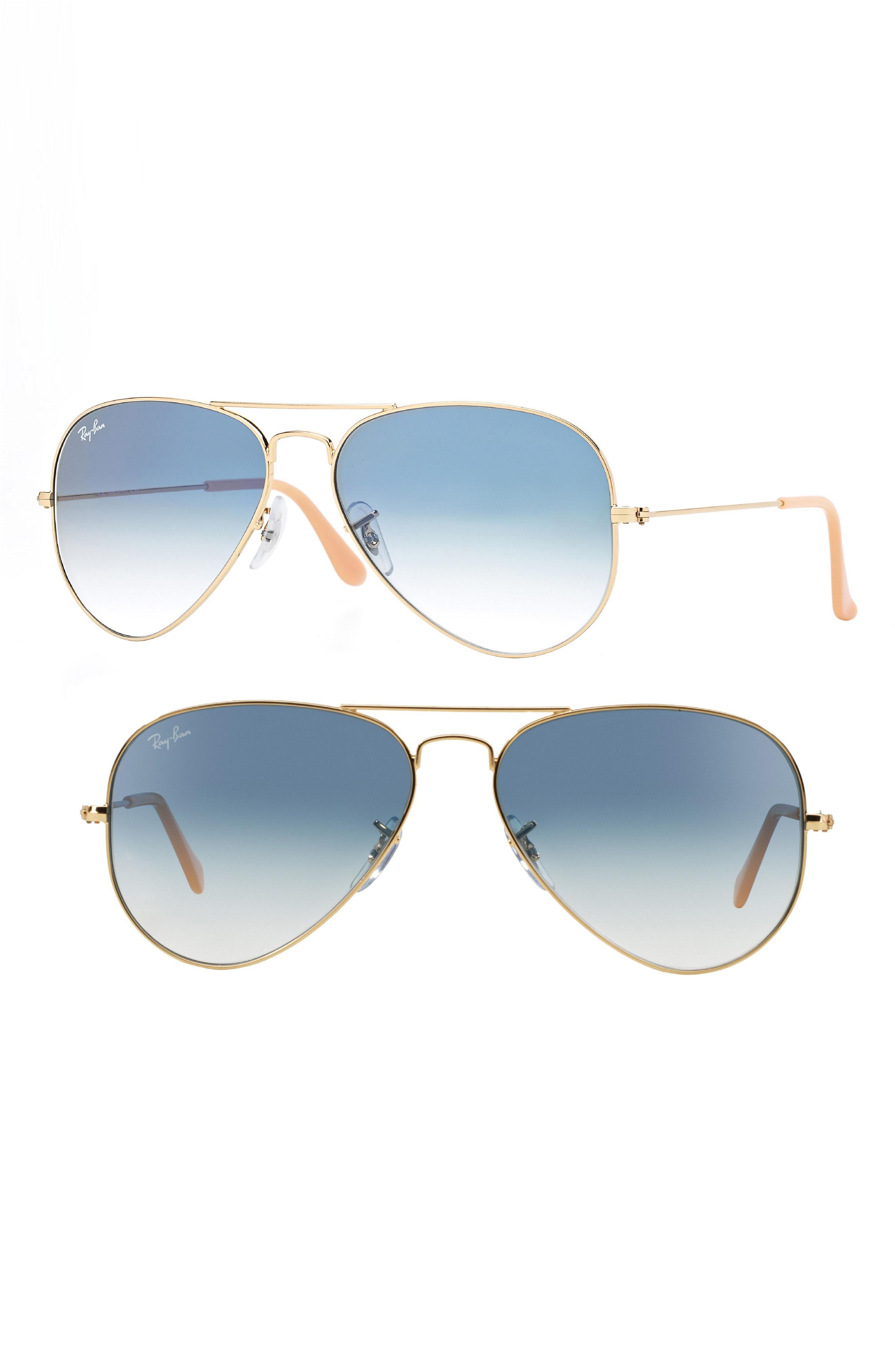 4f01c5e89e Lyst - Ray-Ban Small Original 55mm Aviator Sunglasses - Bronze in ...