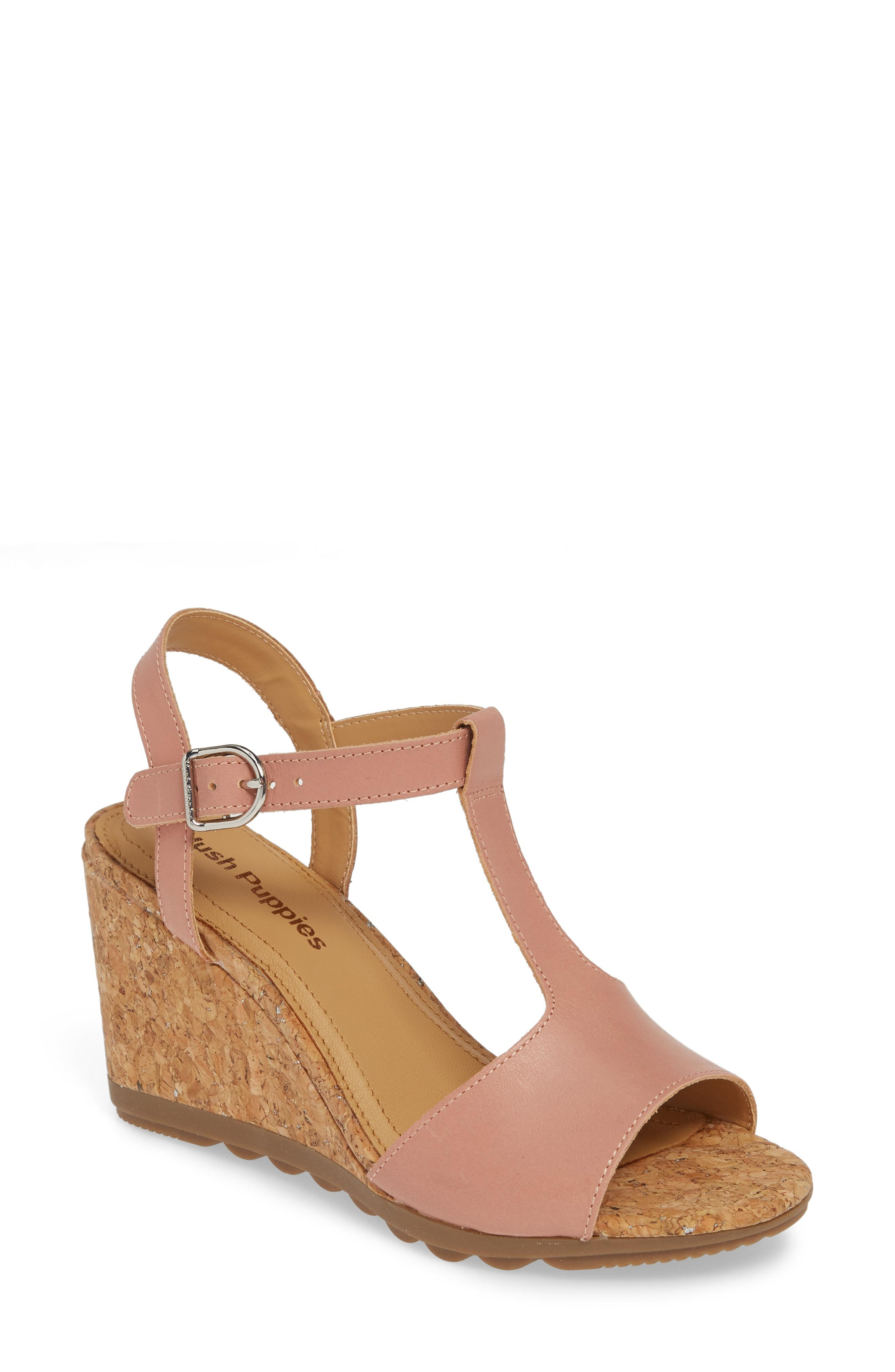 4a2f51229f76d Lyst - Hush Puppies Hush Puppies Pekingese Wedge Sandal in Brown