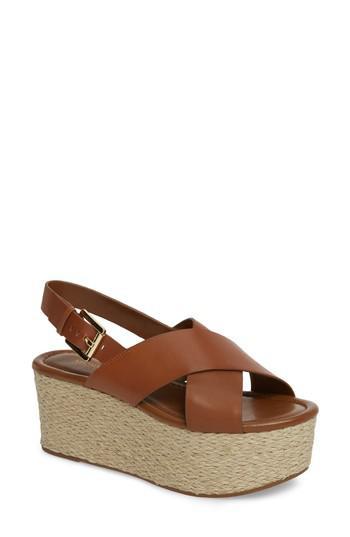 f09db33a598 Lyst - MICHAEL Michael Kors Jodi Platform Sandal in Brown