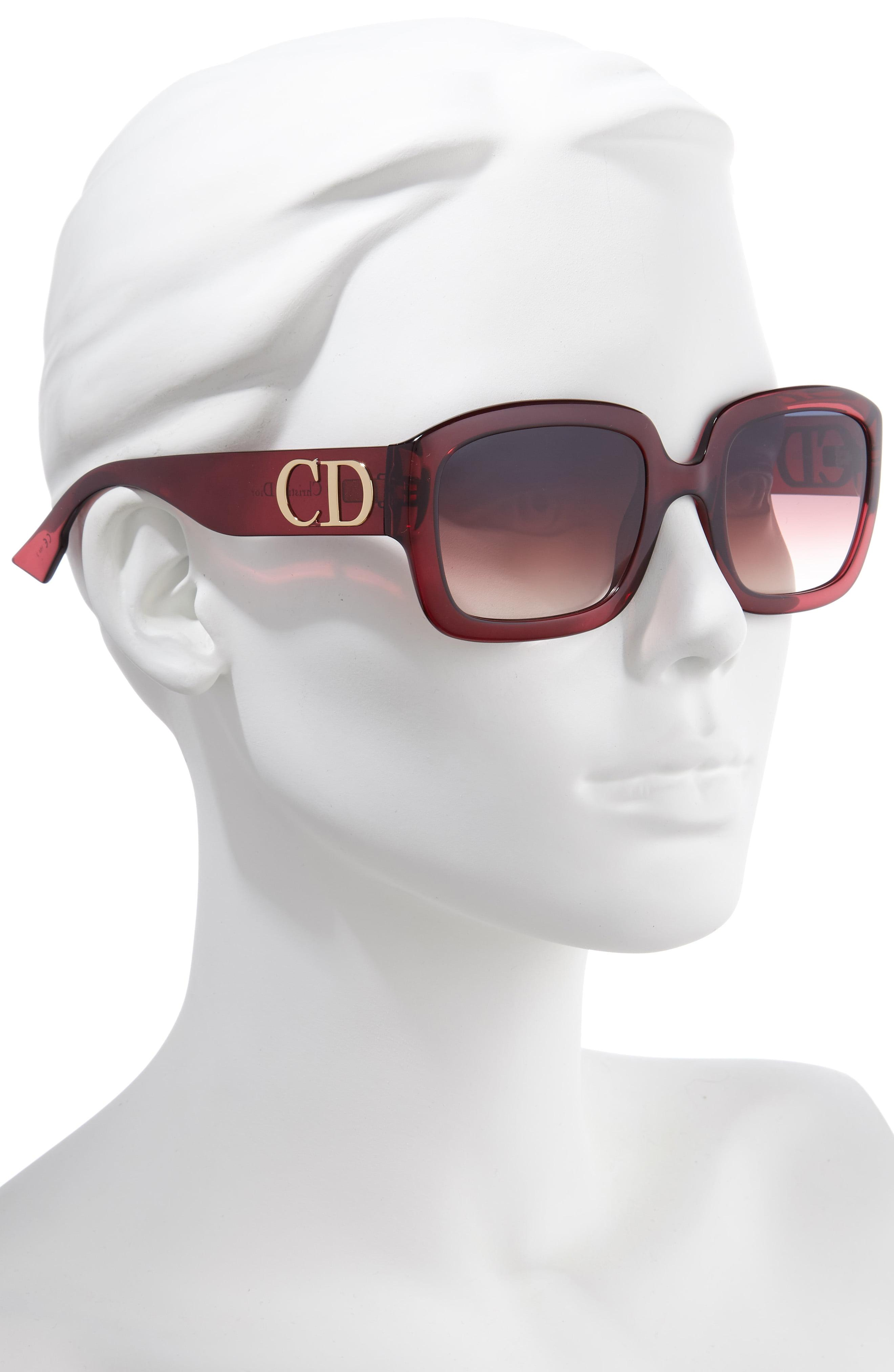 68300a4866 Dior - Multicolor 54mm Square Sunglasses - Opal Burgundy - Lyst. View  fullscreen