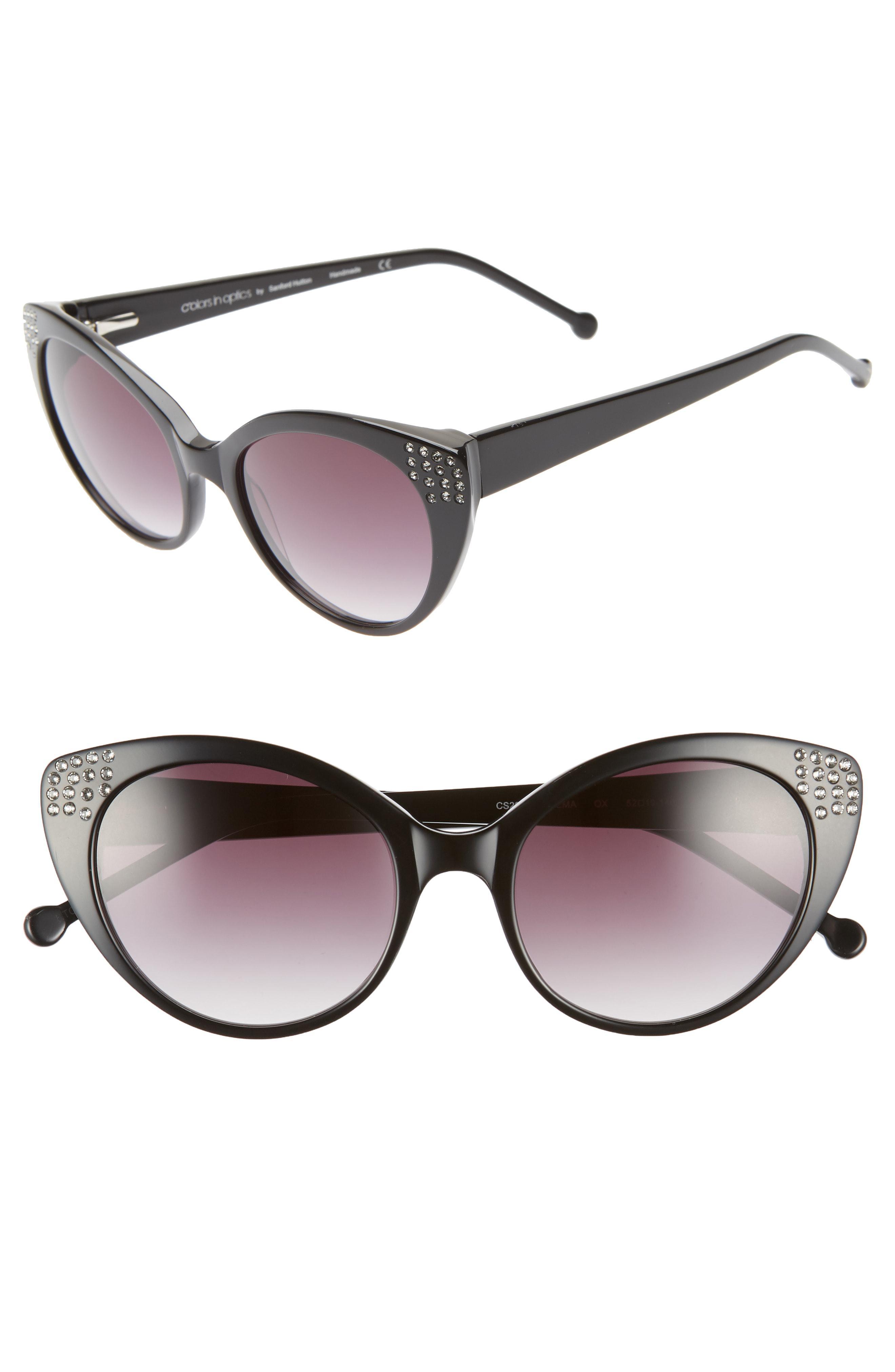 db083dcd767 Colors In Optics. Women s Brown Seema 52mm Gradient Lens Cat Eye Sunglasses  -