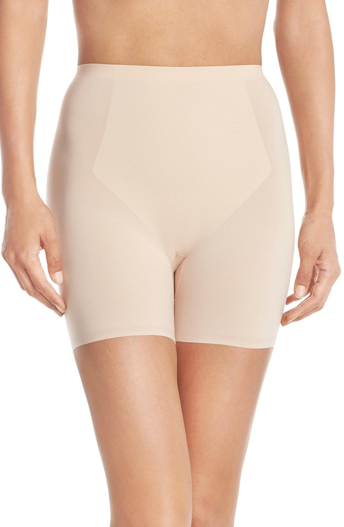 b1b5a32338d8b Lyst - Spanx Spanx Thinstincts Girl Shorts in Natural - Save 48%