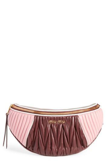 2107b498bb7f Miu Miu Matelassé Leather Belt Bag | Stanford Center for Opportunity ...