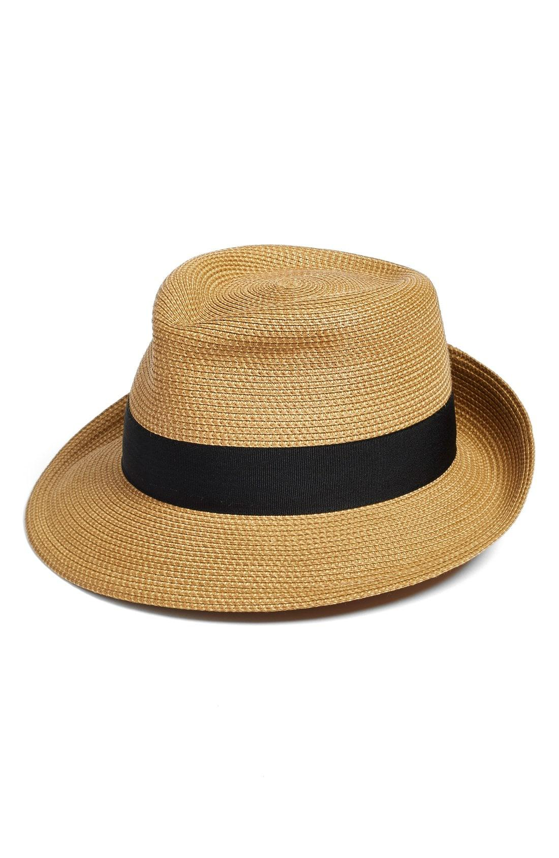 2a2be10d1533f Lyst - Eric Javits Classic Squishee Packable Fedora Sun Hat in Black