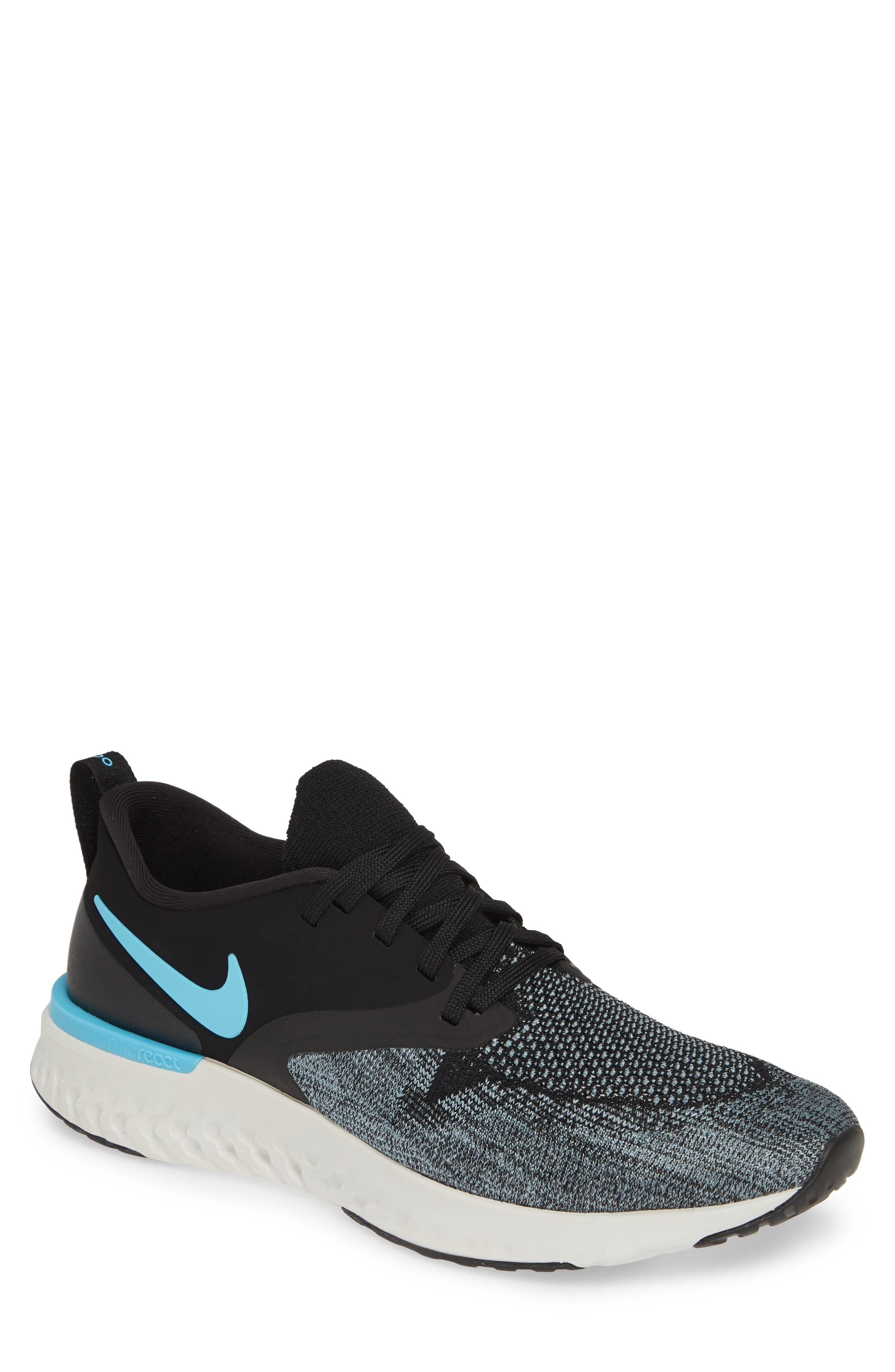 e33307d7b2fa77 Nike. Men s Black Odyssey React 2 Flyknit Running Shoe
