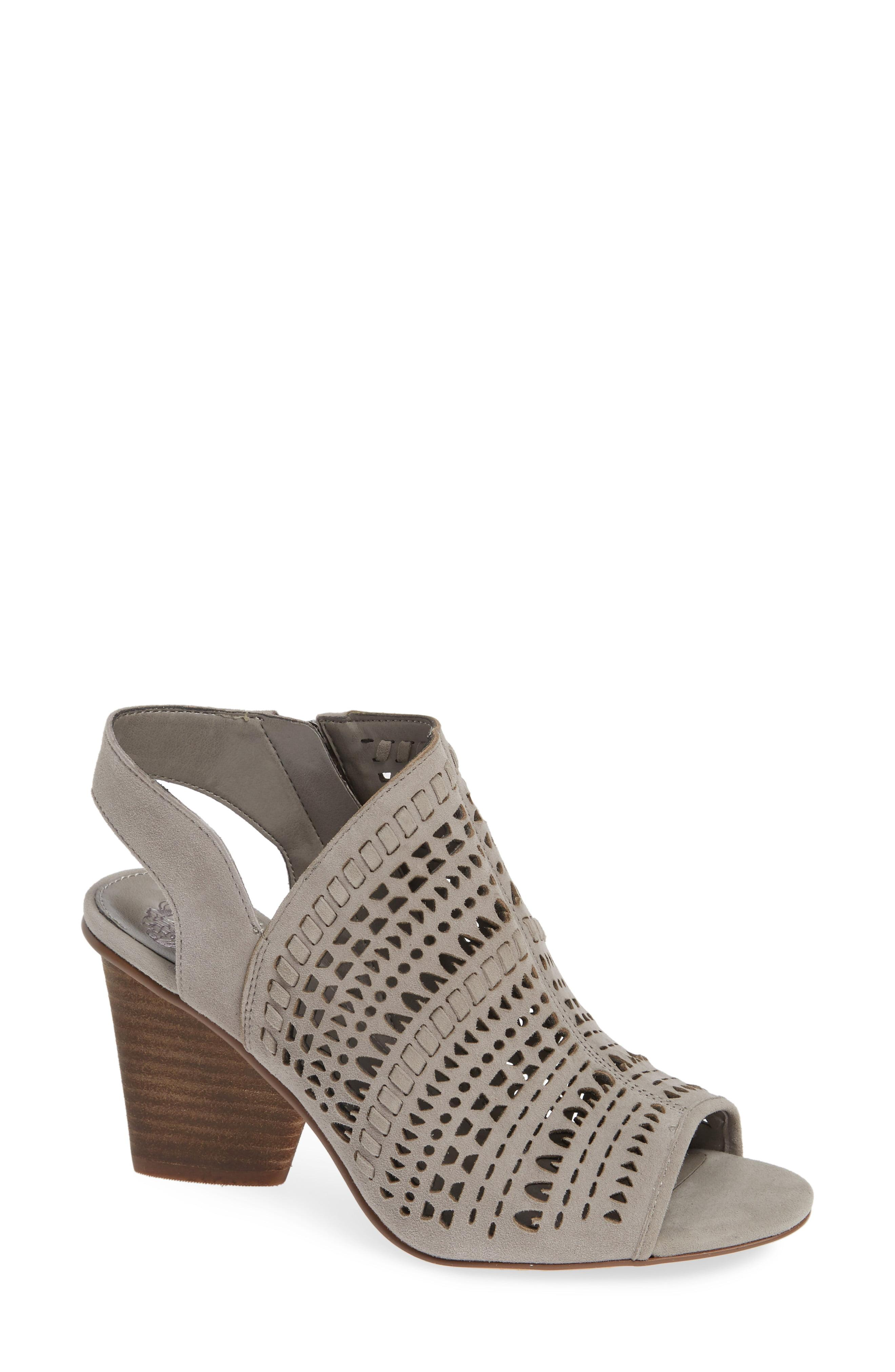 50a7e56fae4 Vince Camuto - Gray Derechie Perforated Shield Sandal - Lyst. View  fullscreen
