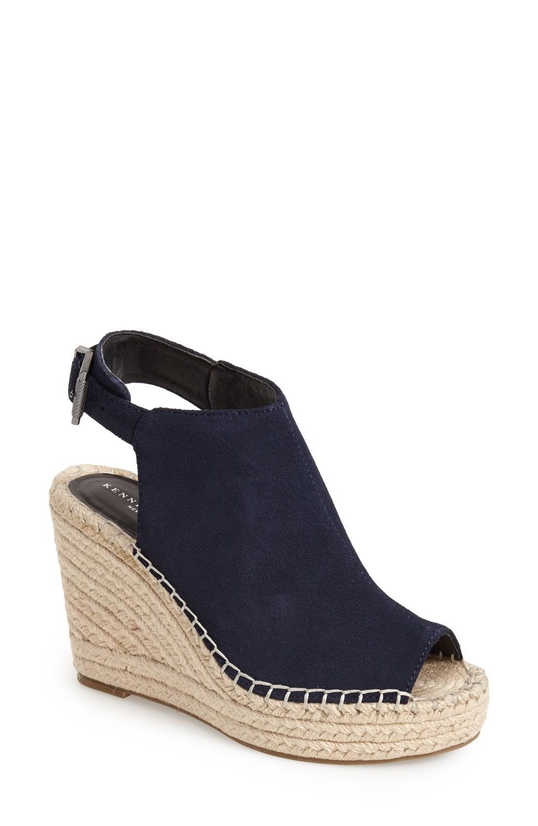 7e32f1cf4c41 Lyst - Kenneth Cole  olivia  Espadrille Wedge Sandal in Blue