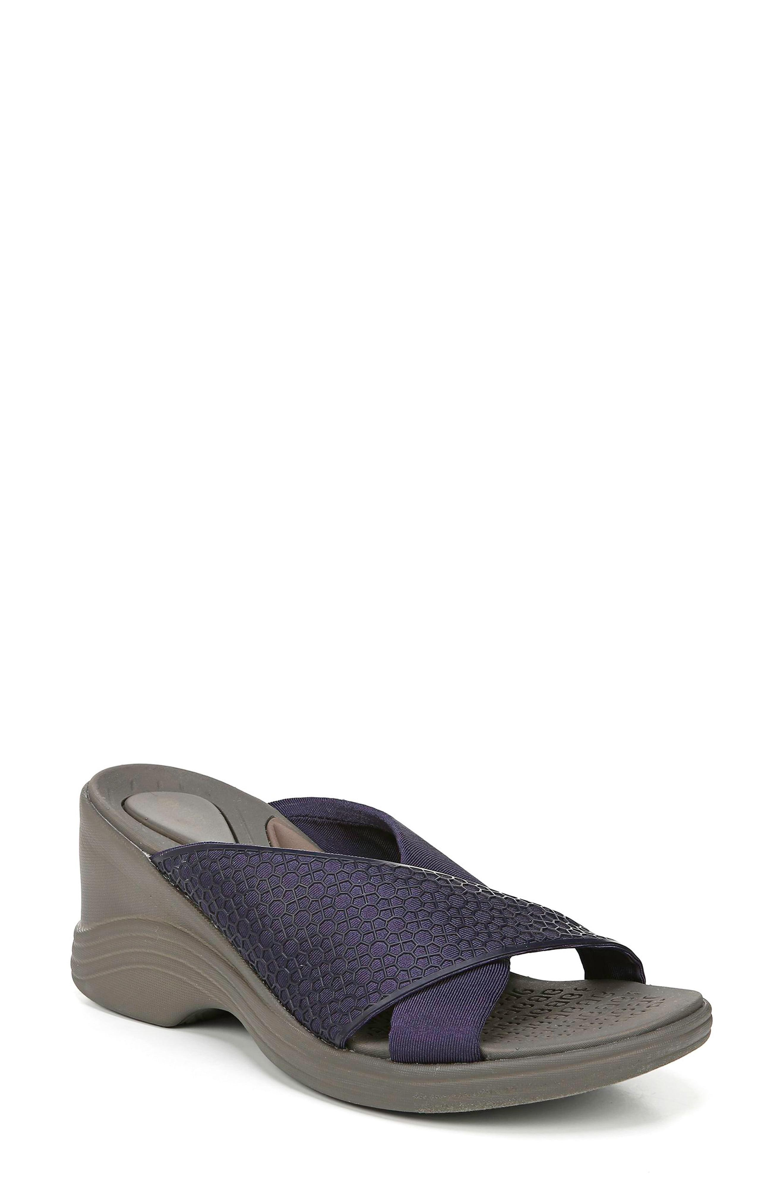 c53e19ce14cf Lyst - Bzees Harmony Wedge Sandal in Blue - Save 1%