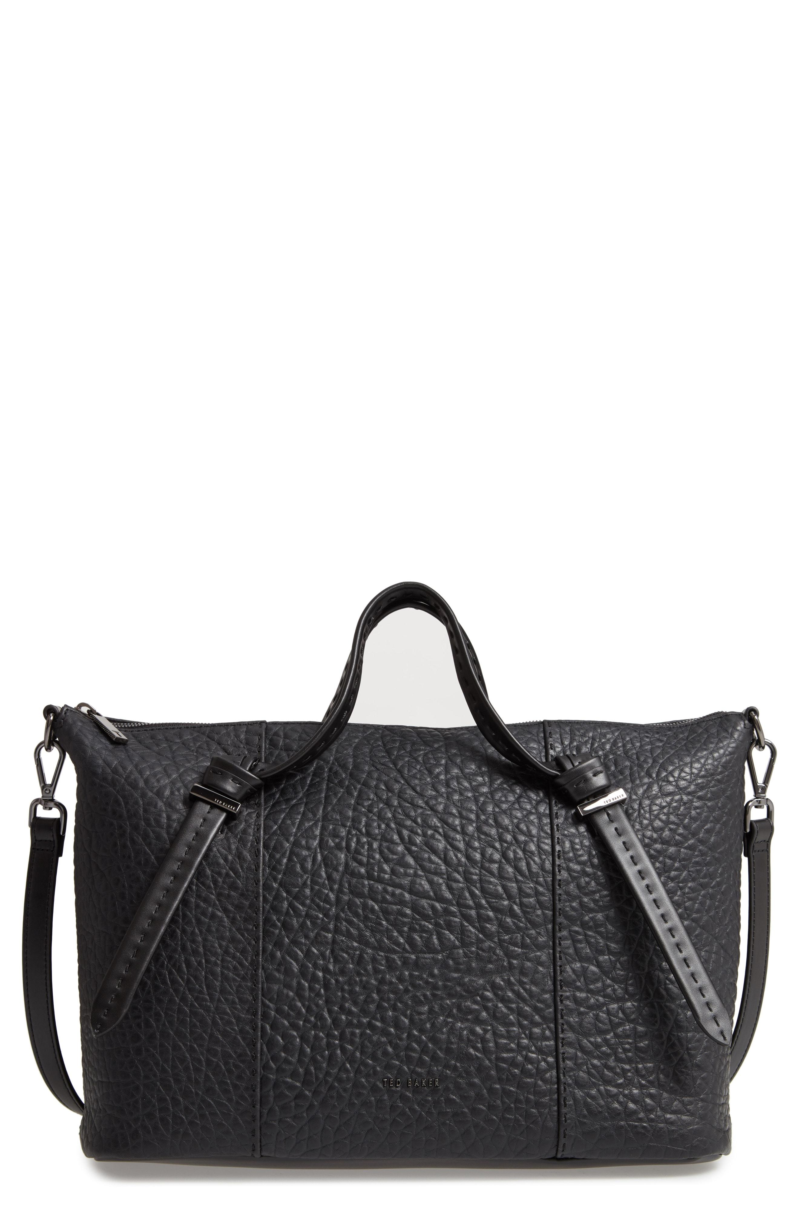 2c5012aecff372 Lyst - Ted Baker Oellie Large Leather Tote - in Black