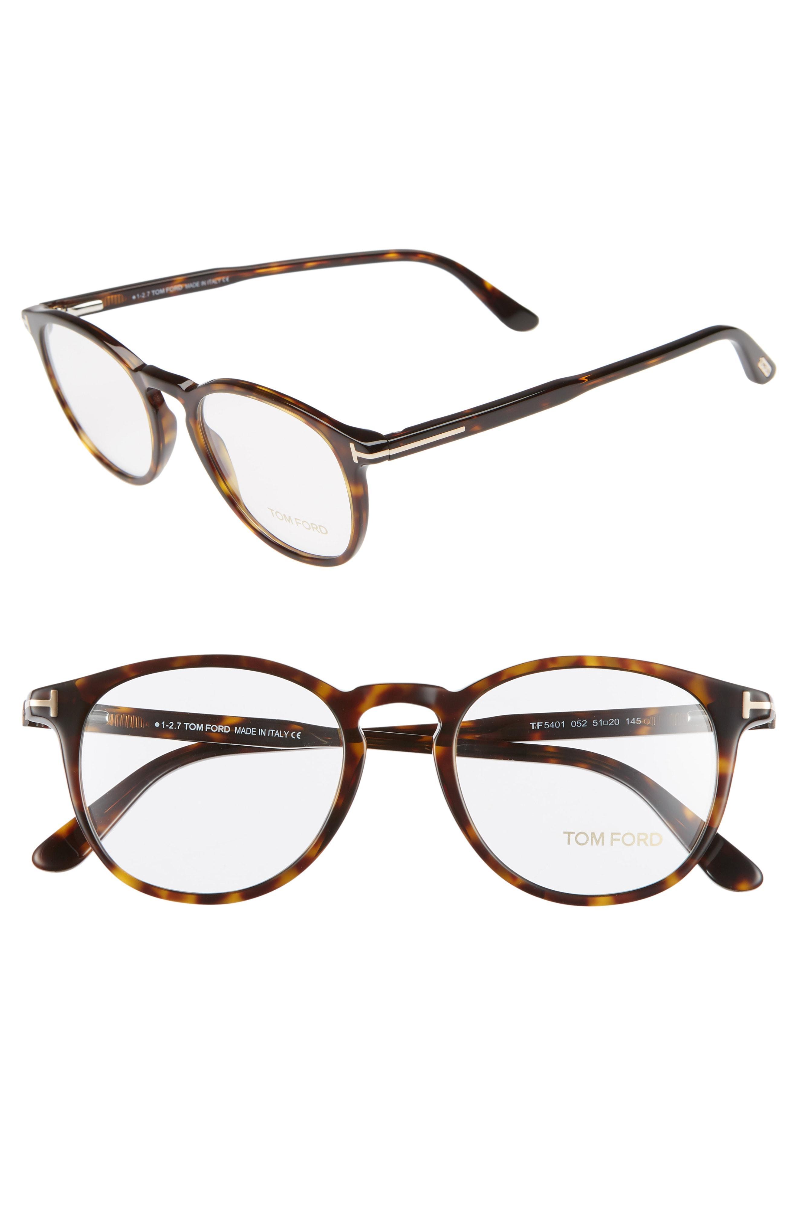 34eb7bc3657 Tom Ford - White 51mm Round Optical Glasses - - Lyst. View fullscreen