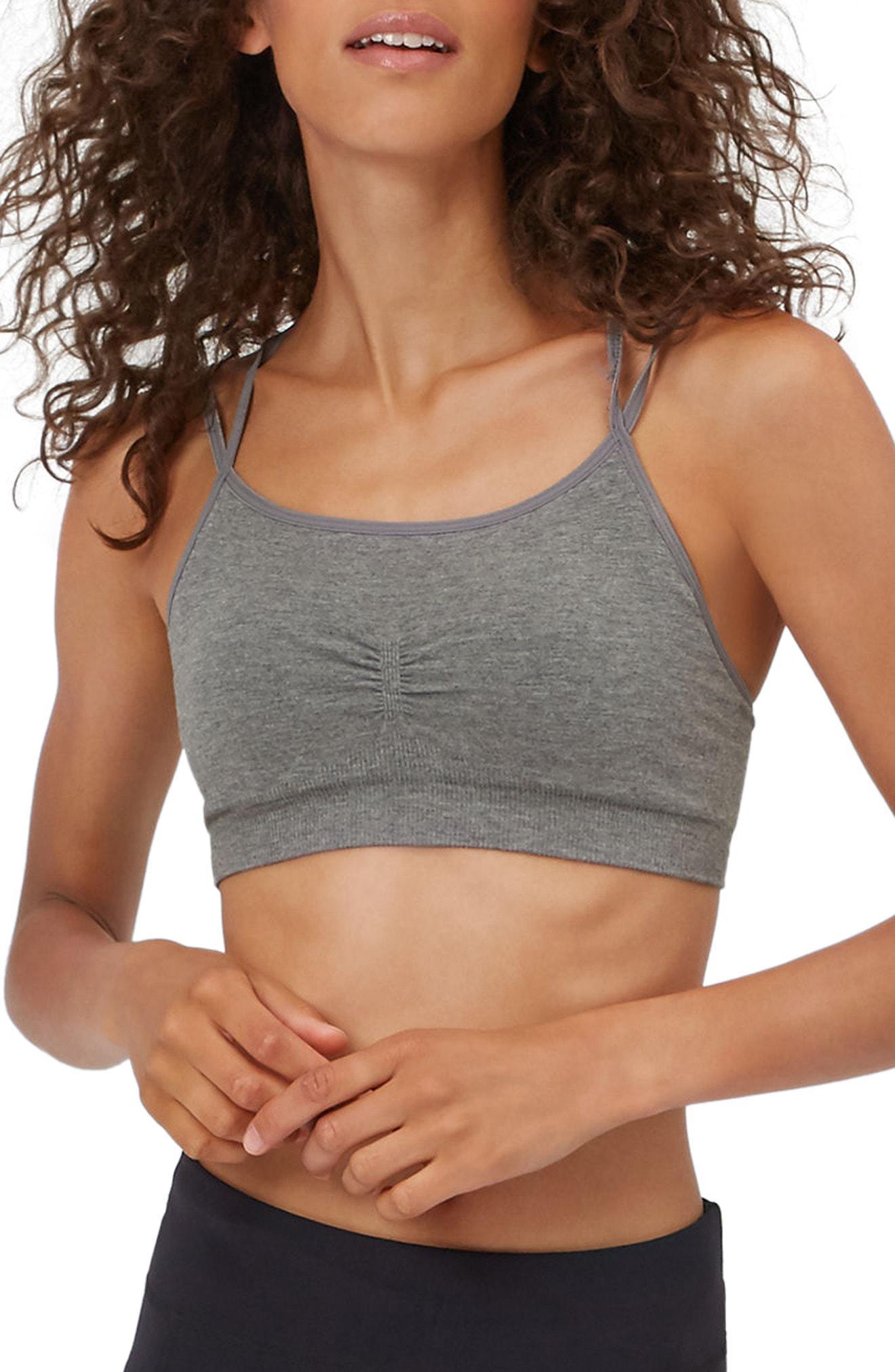 99d3763f1e53e Lyst - Sweaty Betty Brahma Yoga Bra in Gray