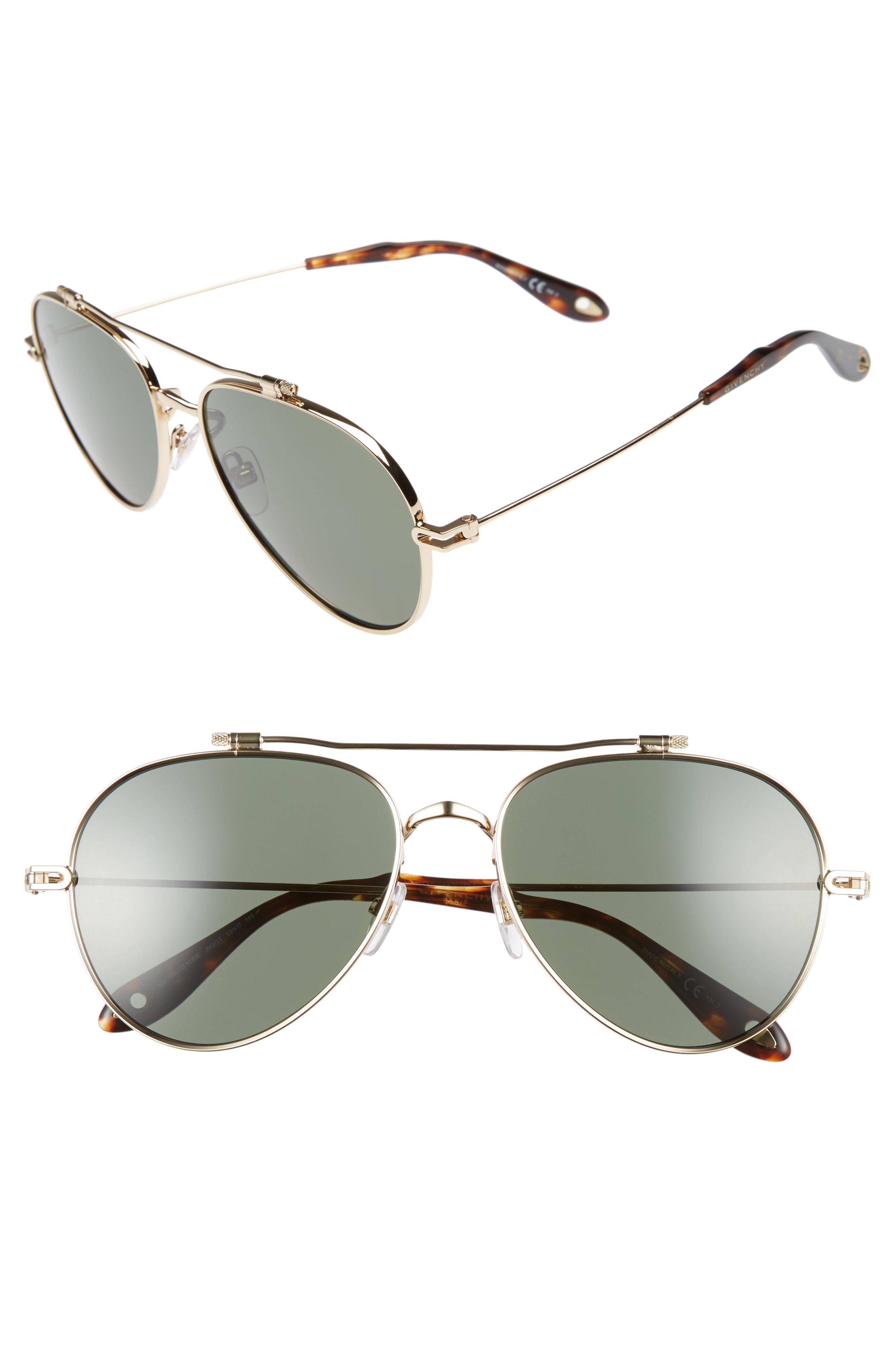 5c2b68631f6 Lyst - Givenchy 58mm Polarized Aviator Sunglasses - for Men