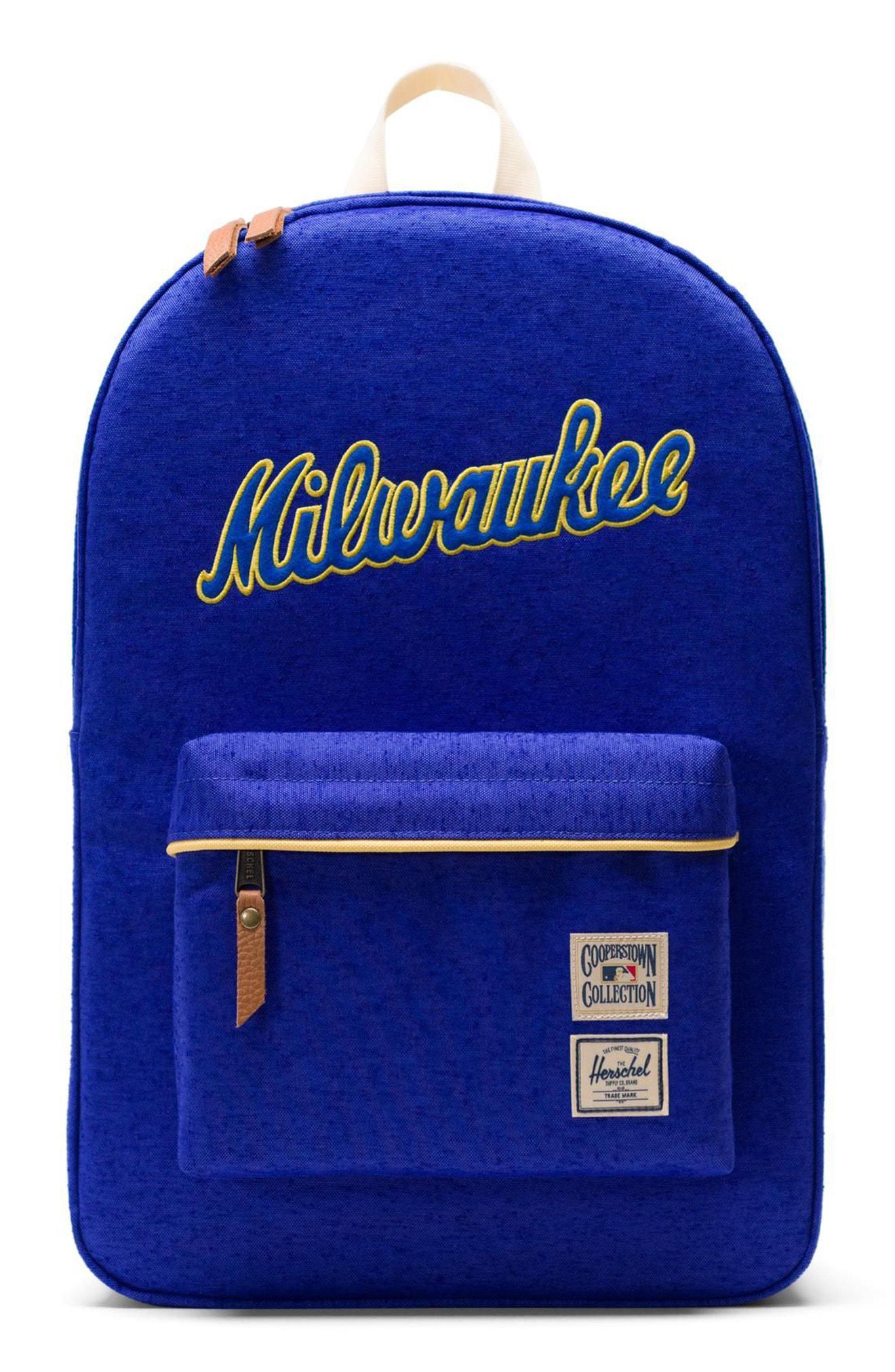 56510582ea Herschel Supply Co. Men s Blue Heritage - Mlb Cooperstown Collection  Backpack