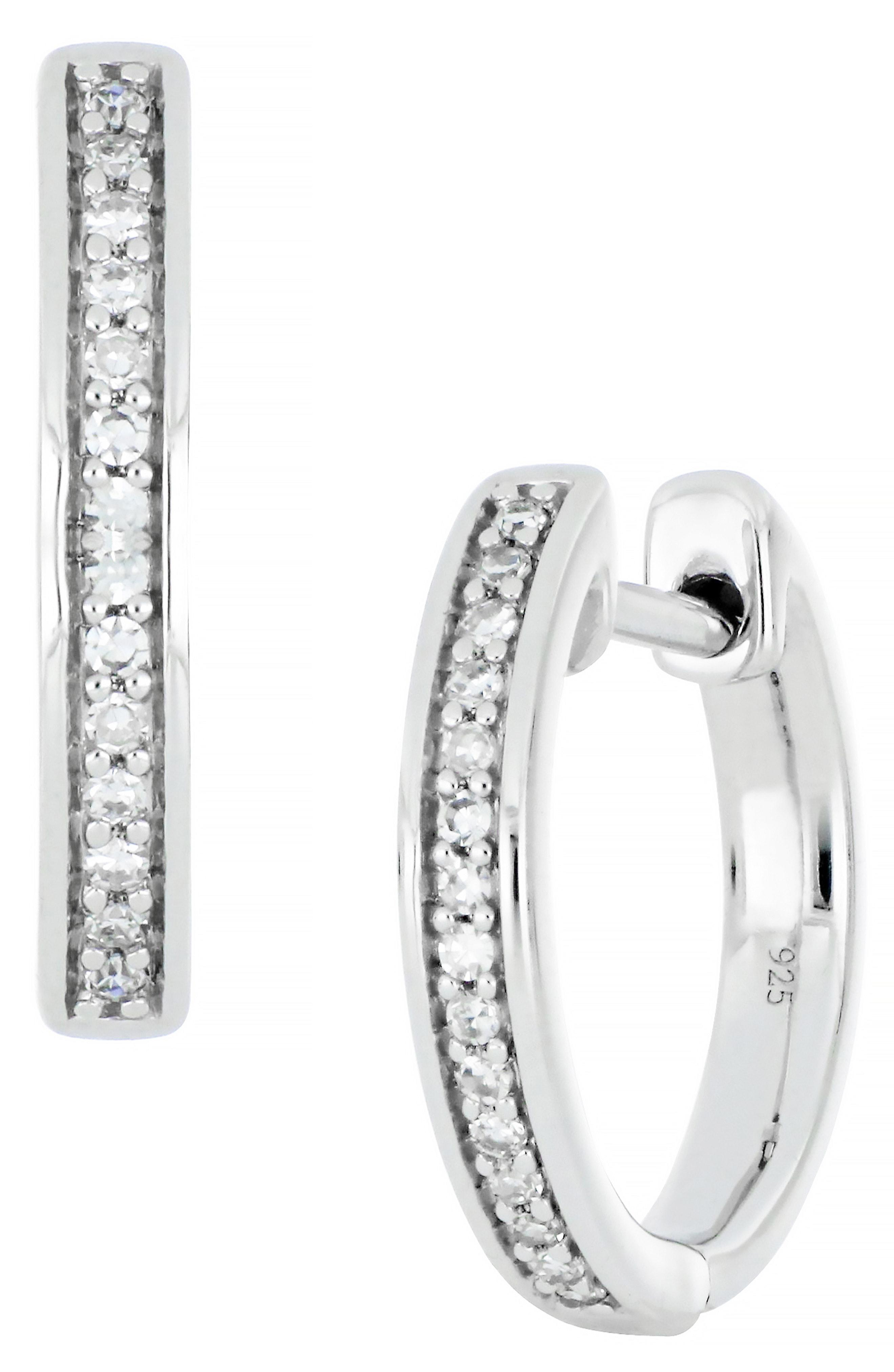 00478f823 Lyst - CARRIERE JEWELRY Carriere Diamond Huggie Earrings (nordstrom ...