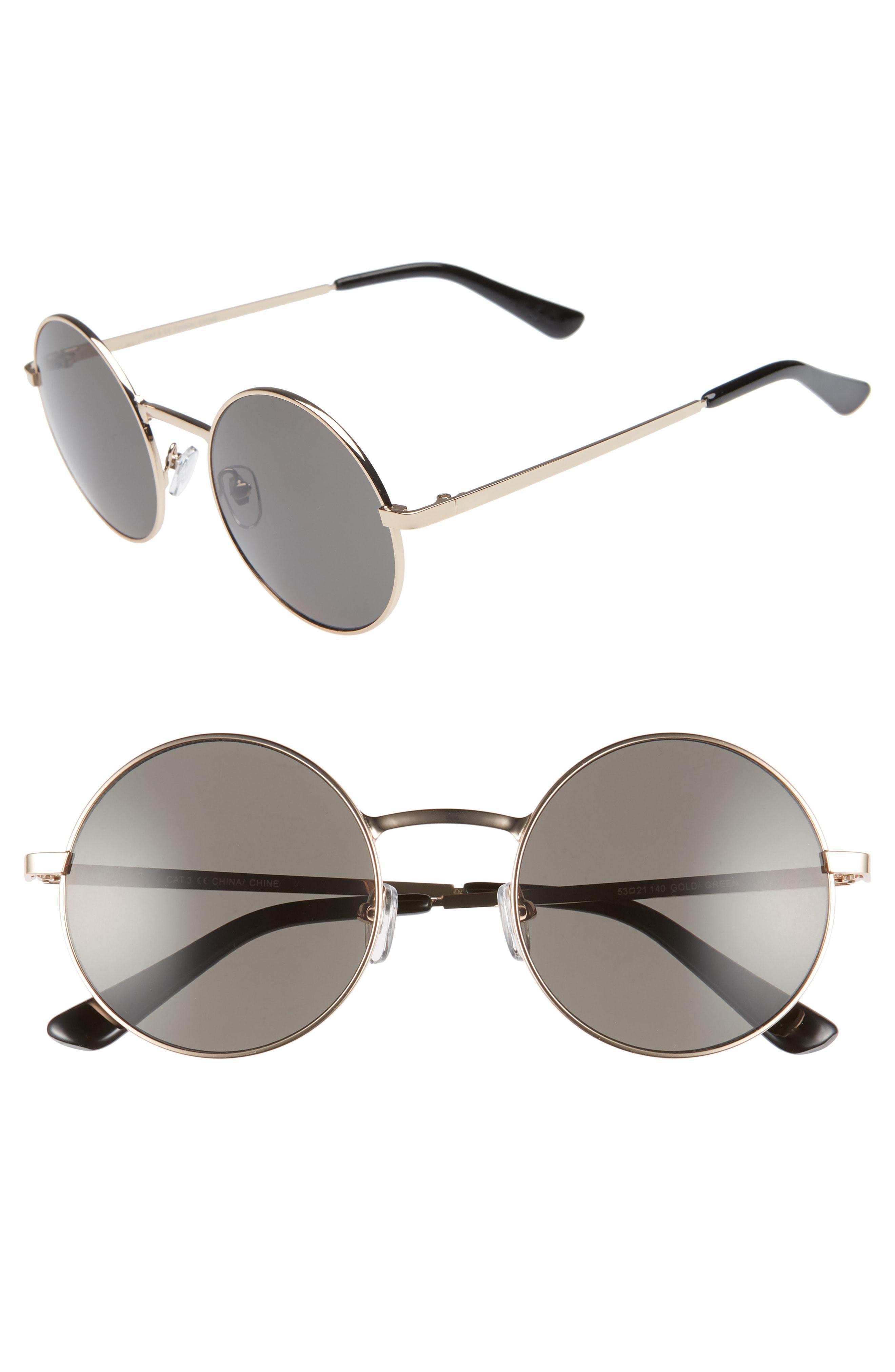 7eaa1643883 Lyst - Nordstrom 1901 Burke 53mm Round Sunglasses in Metallic for Men