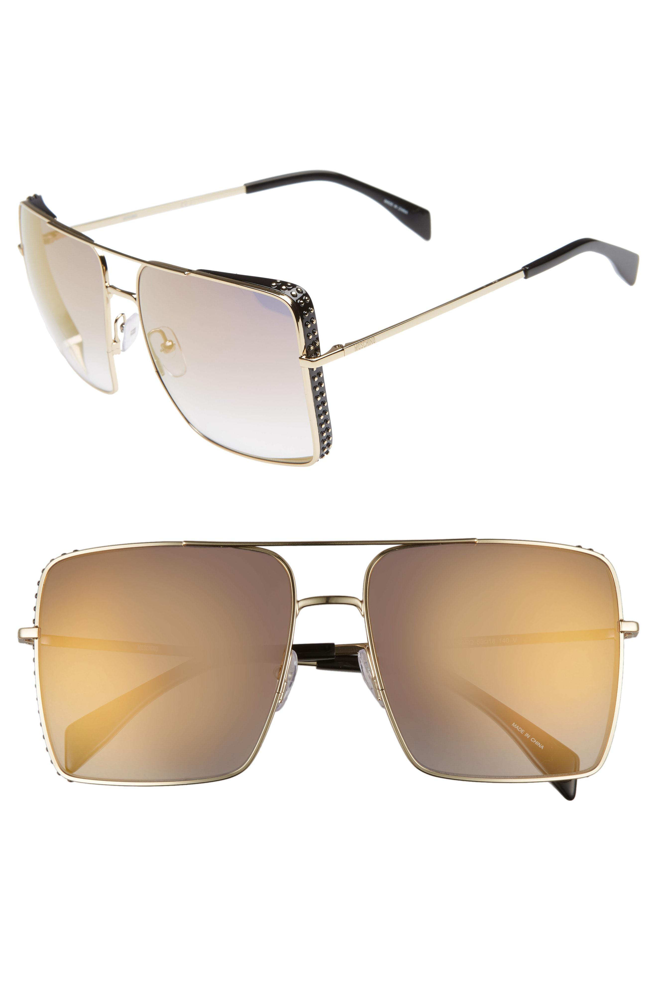 0186702ad8d7 Lyst - Moschino 50mm Square Flat Top Sunglasses -