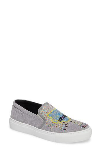 Kenzo Women's K Skate Embroidered Slip-On Sneaker DTdt9IvZ