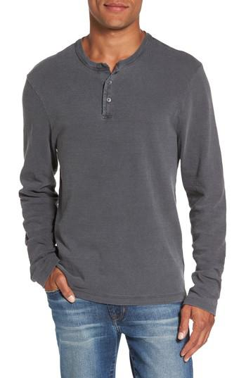 James perse long sleeve henley t shirt in grey for men lyst for James perse henley shirt